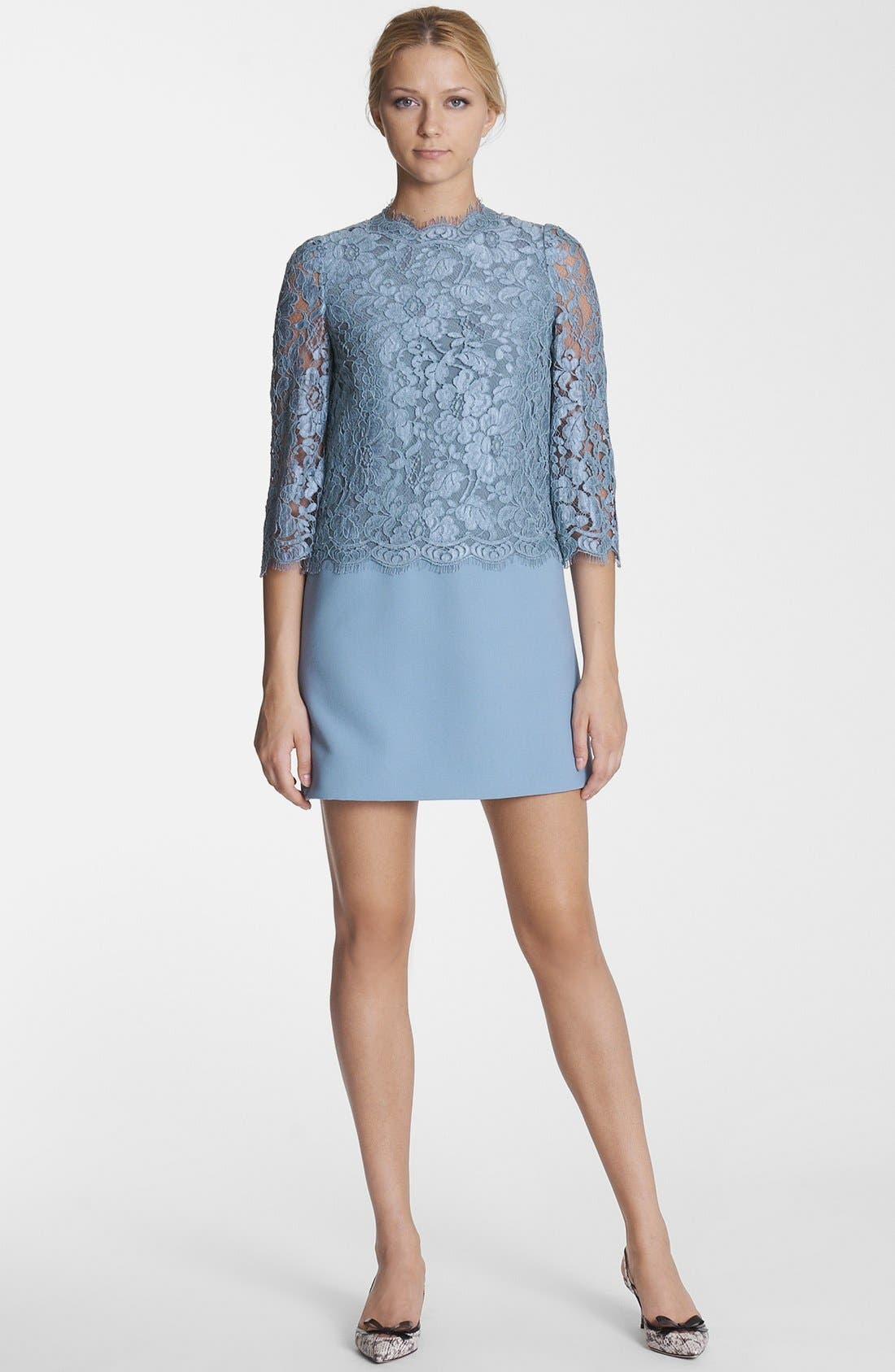 Alternate Image 1 Selected - Dolce&Gabbana Lace & Cady Dress