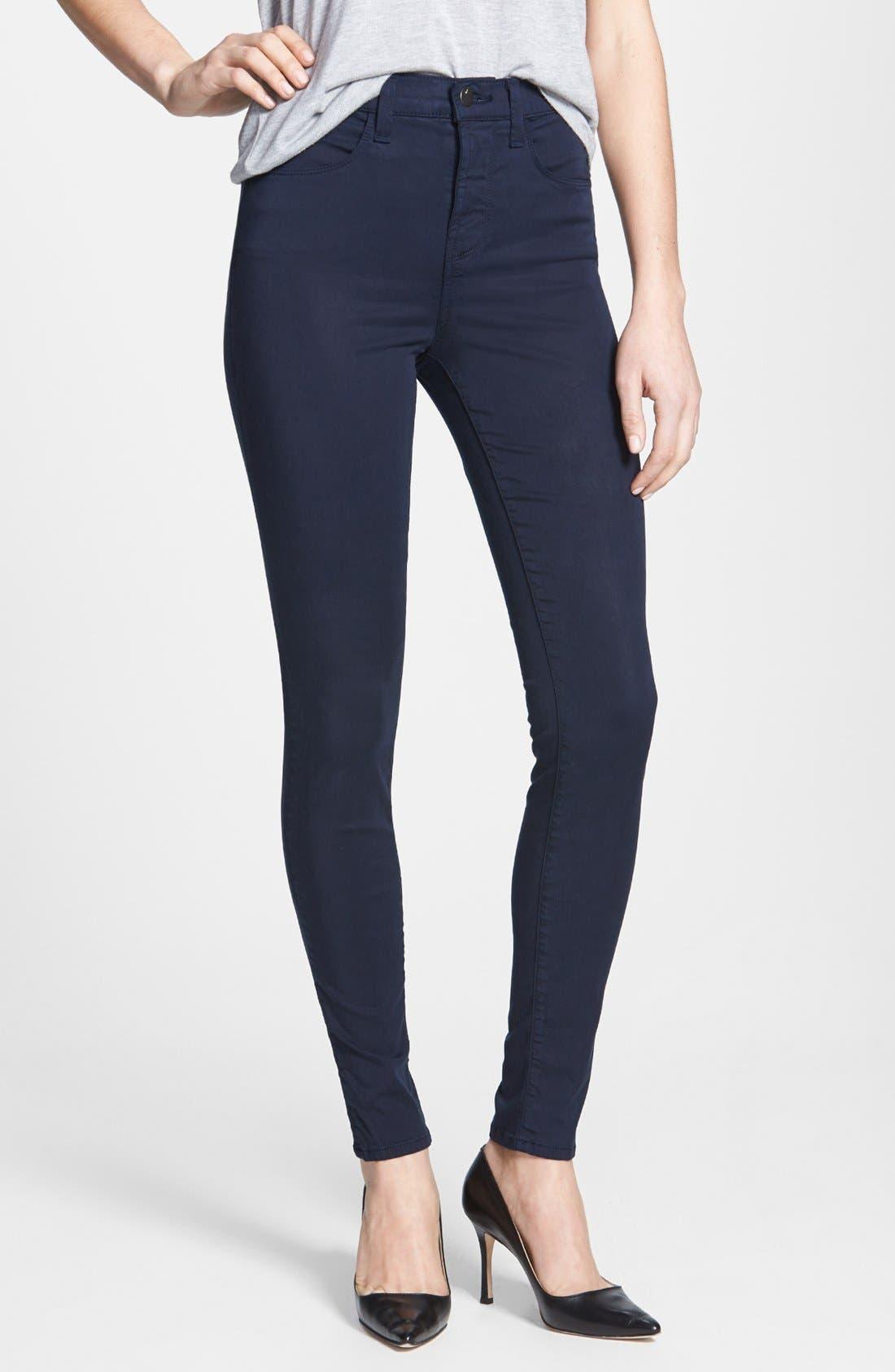Alternate Image 1 Selected - J Brand 'Maria 2311' High Rise Skinny Jeans (Marine)