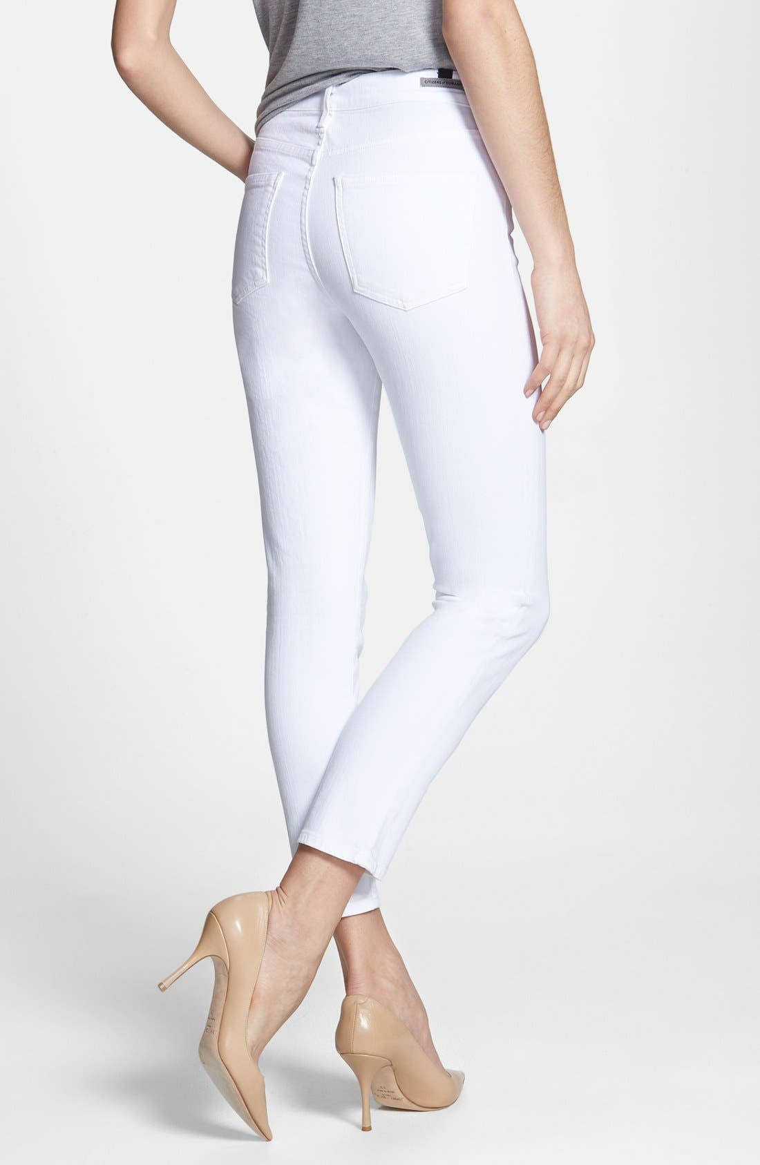 Alternate Image 2  - Citizens of Humanity 'Racer' High Rise Skinny Jeans (Santorini White)