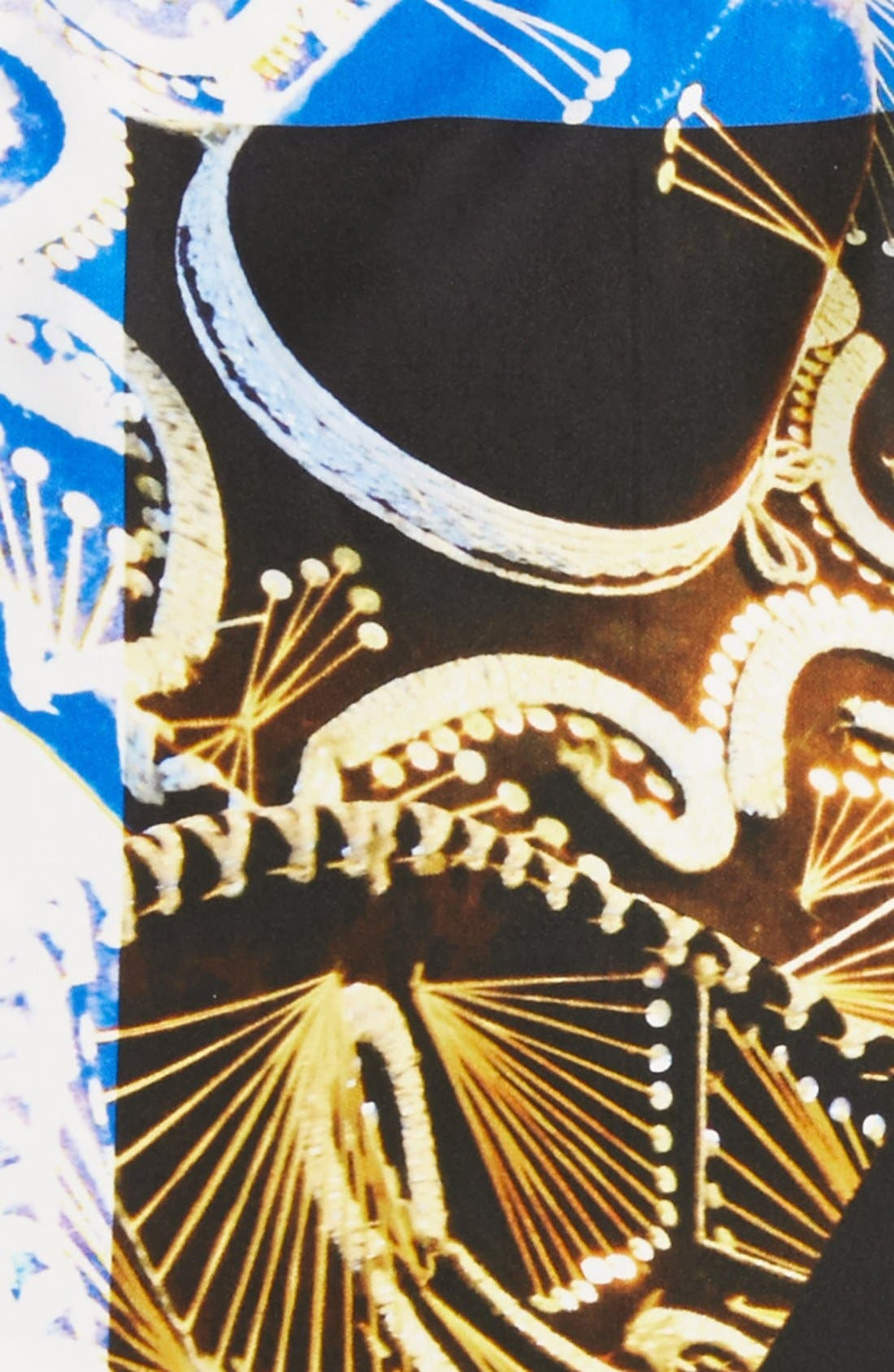 Alternate Image 3  - Etro Sombrero Print Silk Pocket Square