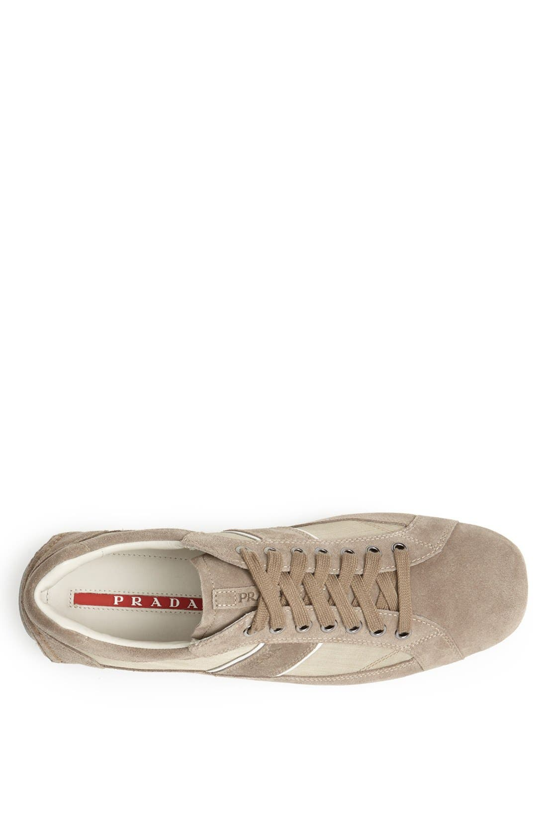 Alternate Image 3  - Prada Low Profile Suede and Nylon Sneaker