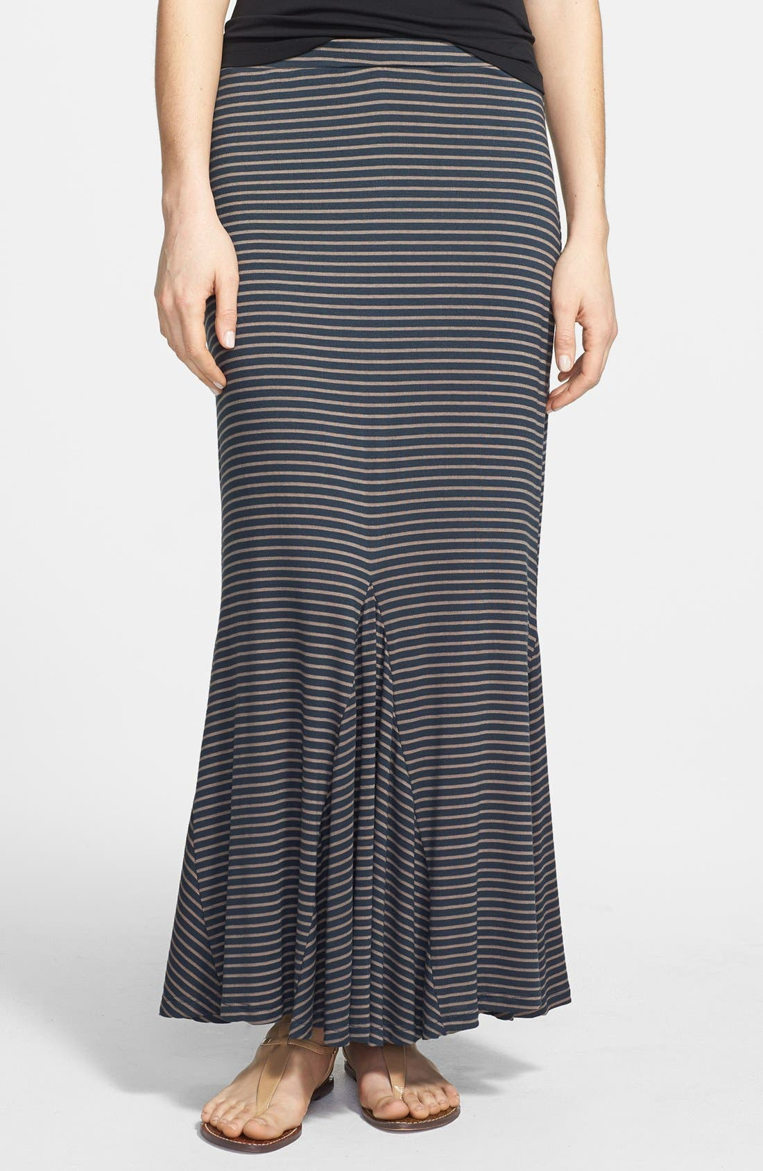 Alternate Image 1 Selected - Pleione Trumpet Hem Maxi Skirt (Regular & Petite)