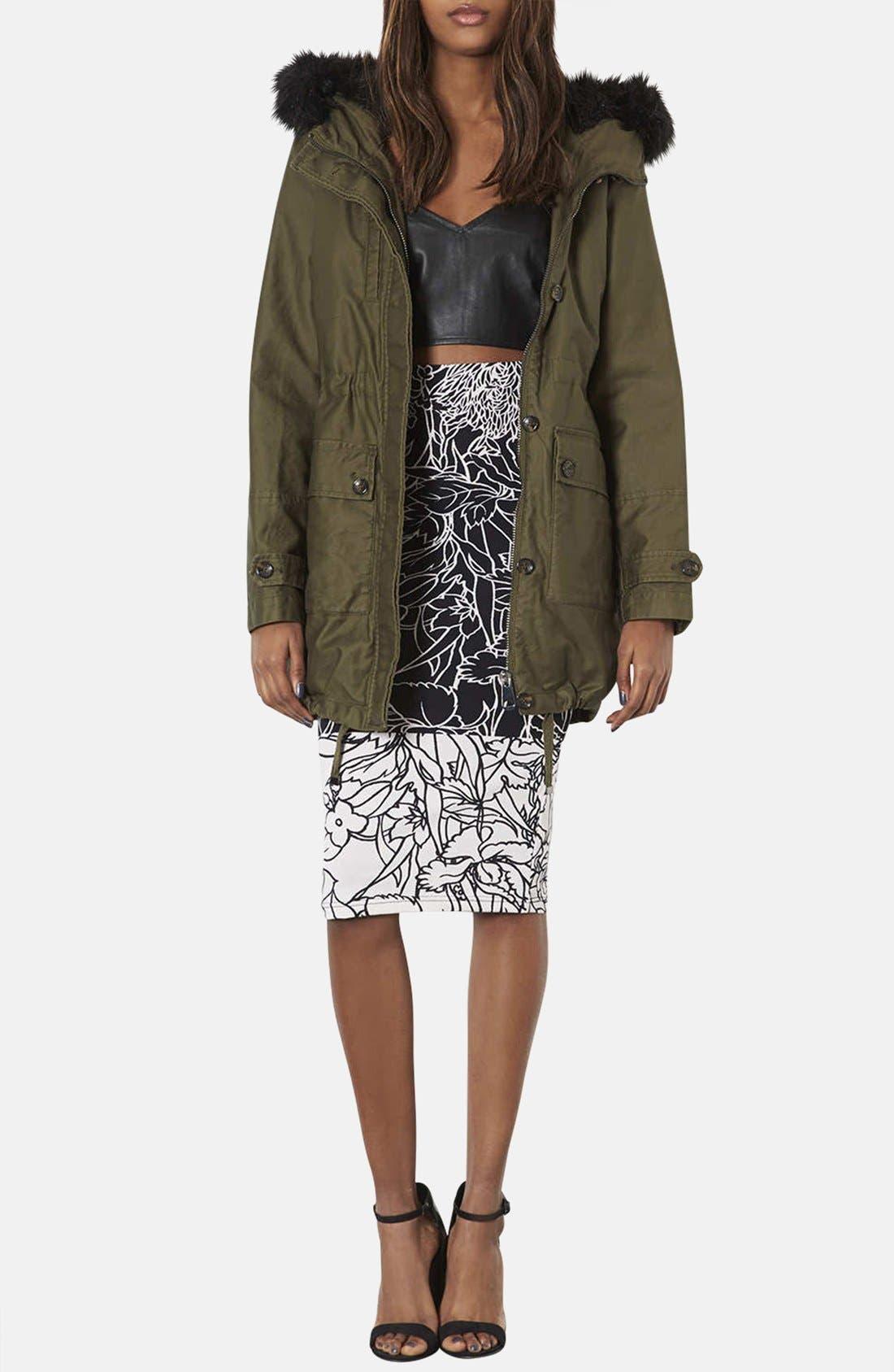 Alternate Image 4  - Topshop 'Pen Garden' Floral Print Tube Skirt