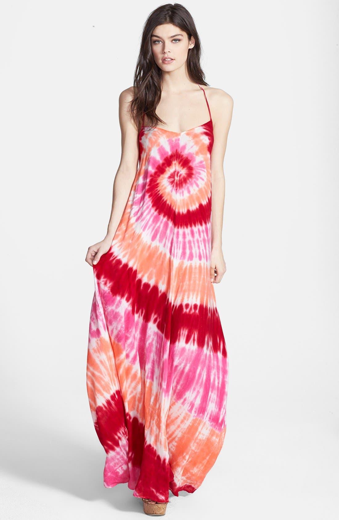 Main Image - Young, Fabulous & Broke 'Fortune' Tie Dye Maxi Dress
