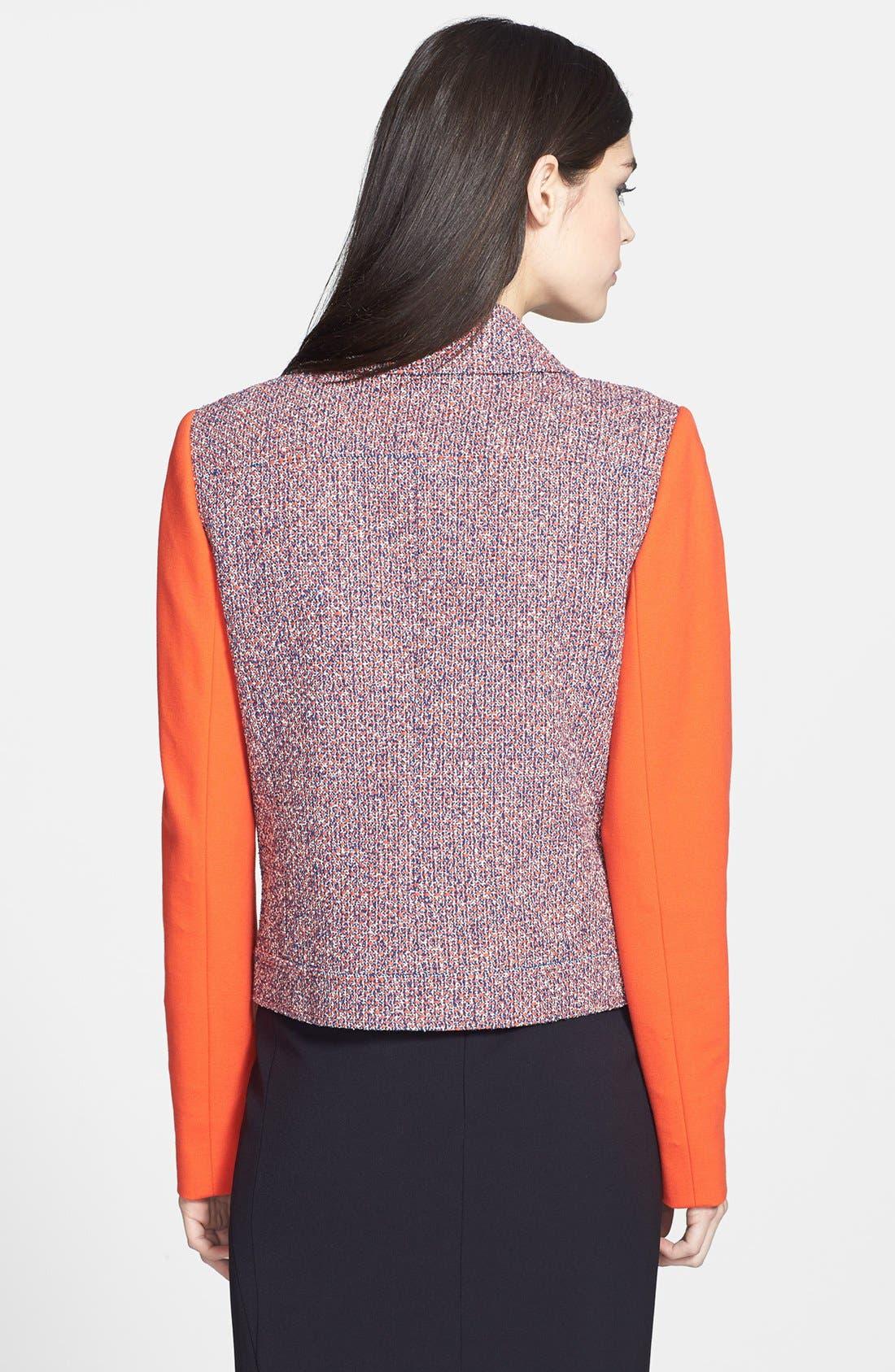 Alternate Image 2  - Classiques Entier® 'Carlotta' Tweed & Ponte Moto Jacket