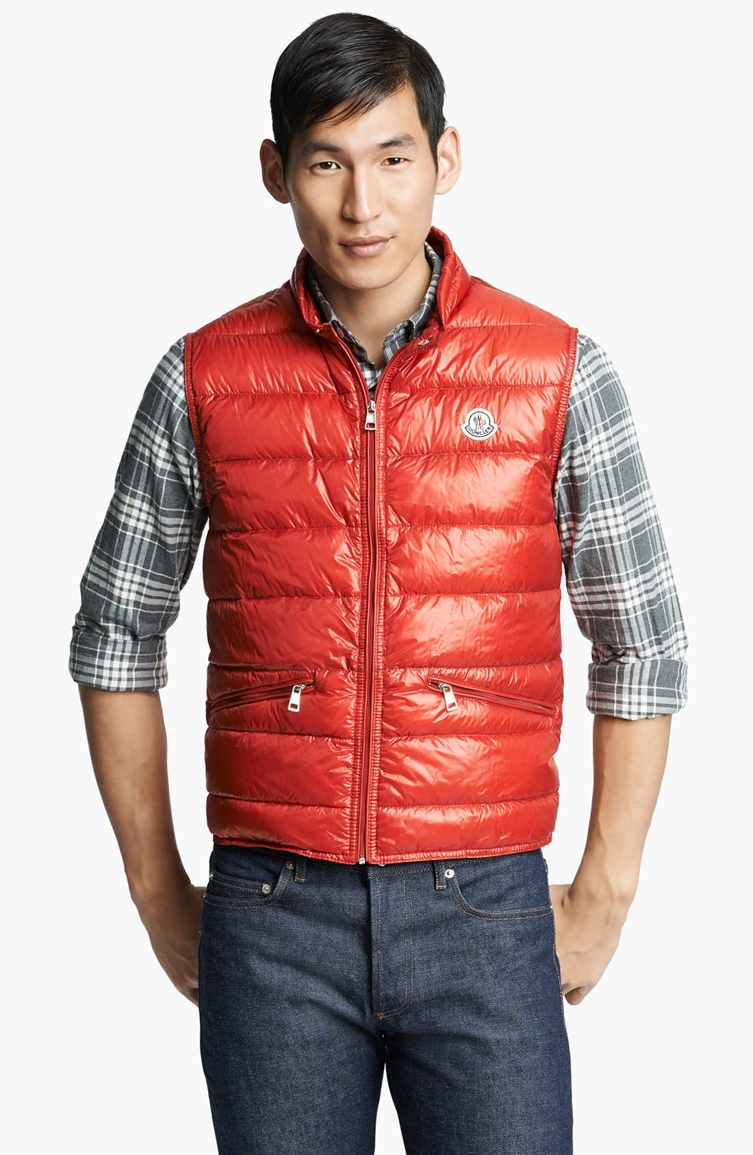 Alternate Image 1 Selected - Moncler 'Gui' Shine Down Vest