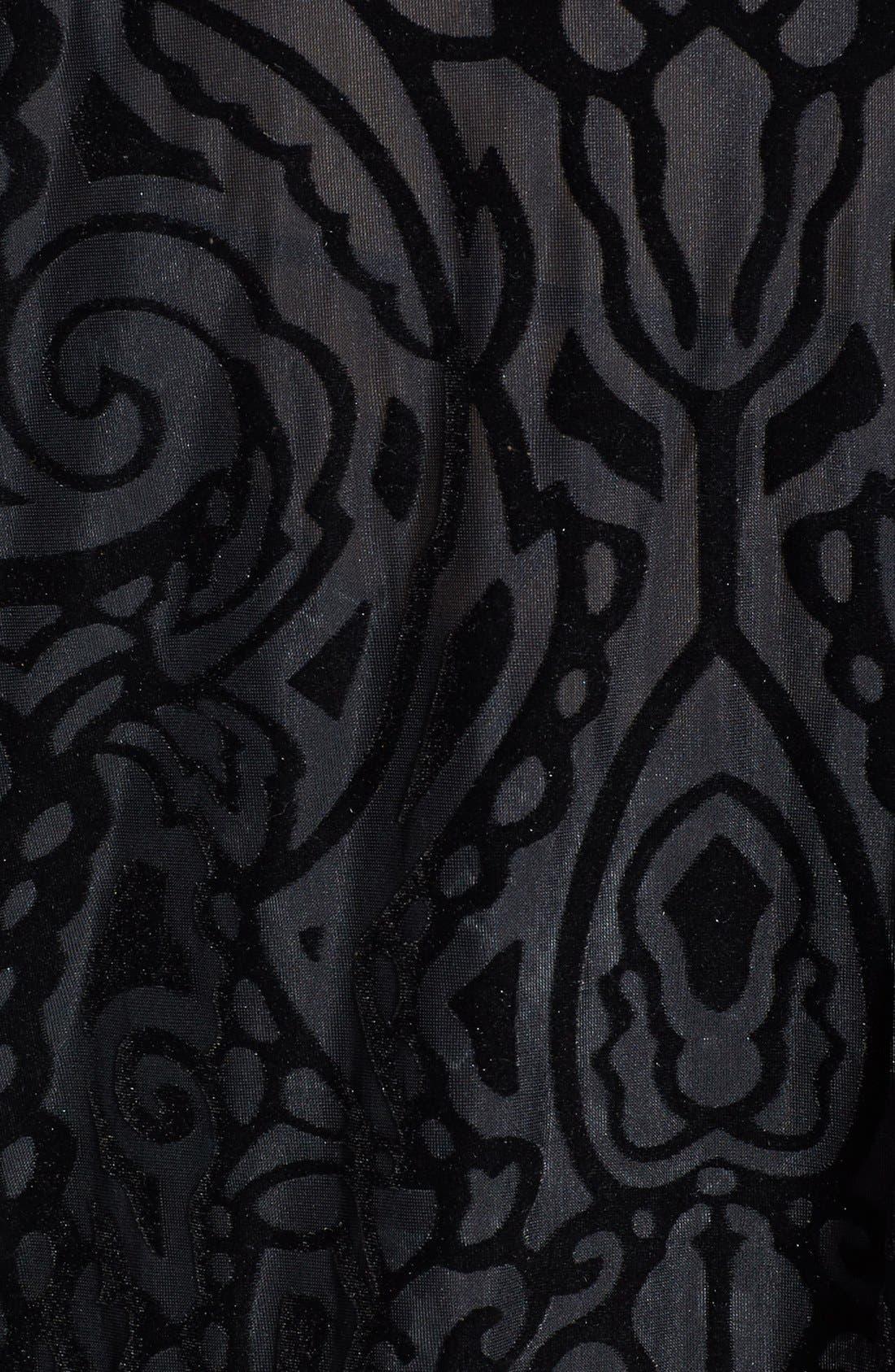 Alternate Image 3  - Topshop Fringe Burnout Kimono Jacket