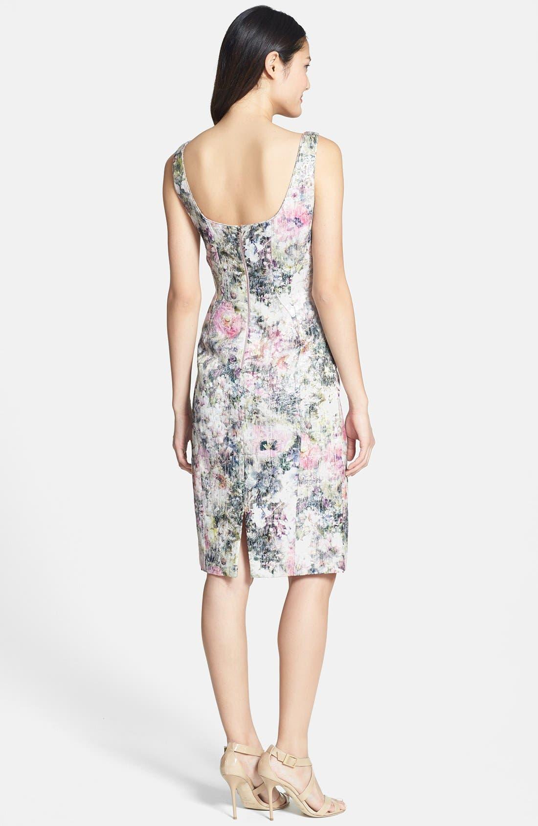 Alternate Image 2  - Maggy London Print Brocade Sheath Dress