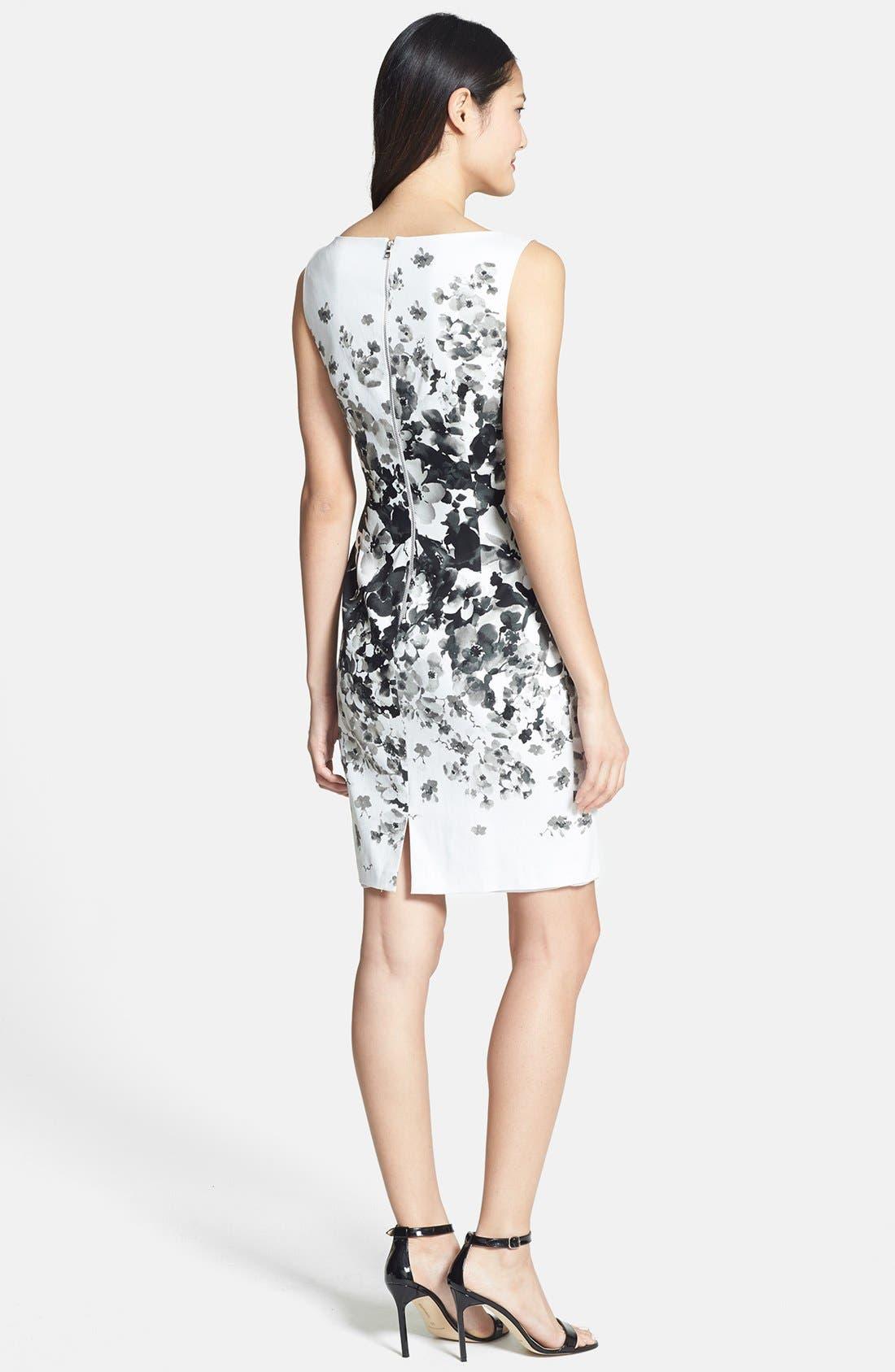 Alternate Image 3  - Maggy London Print Bateau Neck Cotton Sheath Dress (Regular & Petite)