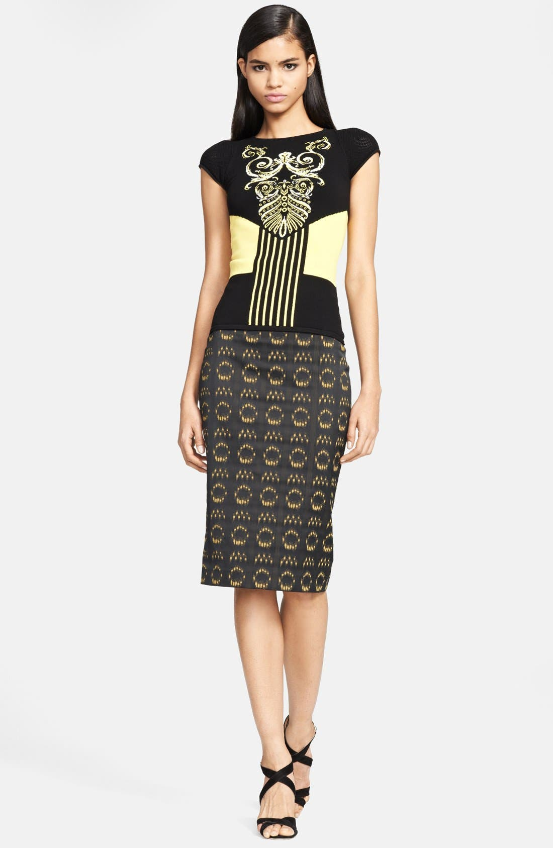 Alternate Image 3  - Versace Collection Jacquard Pencil Skirt