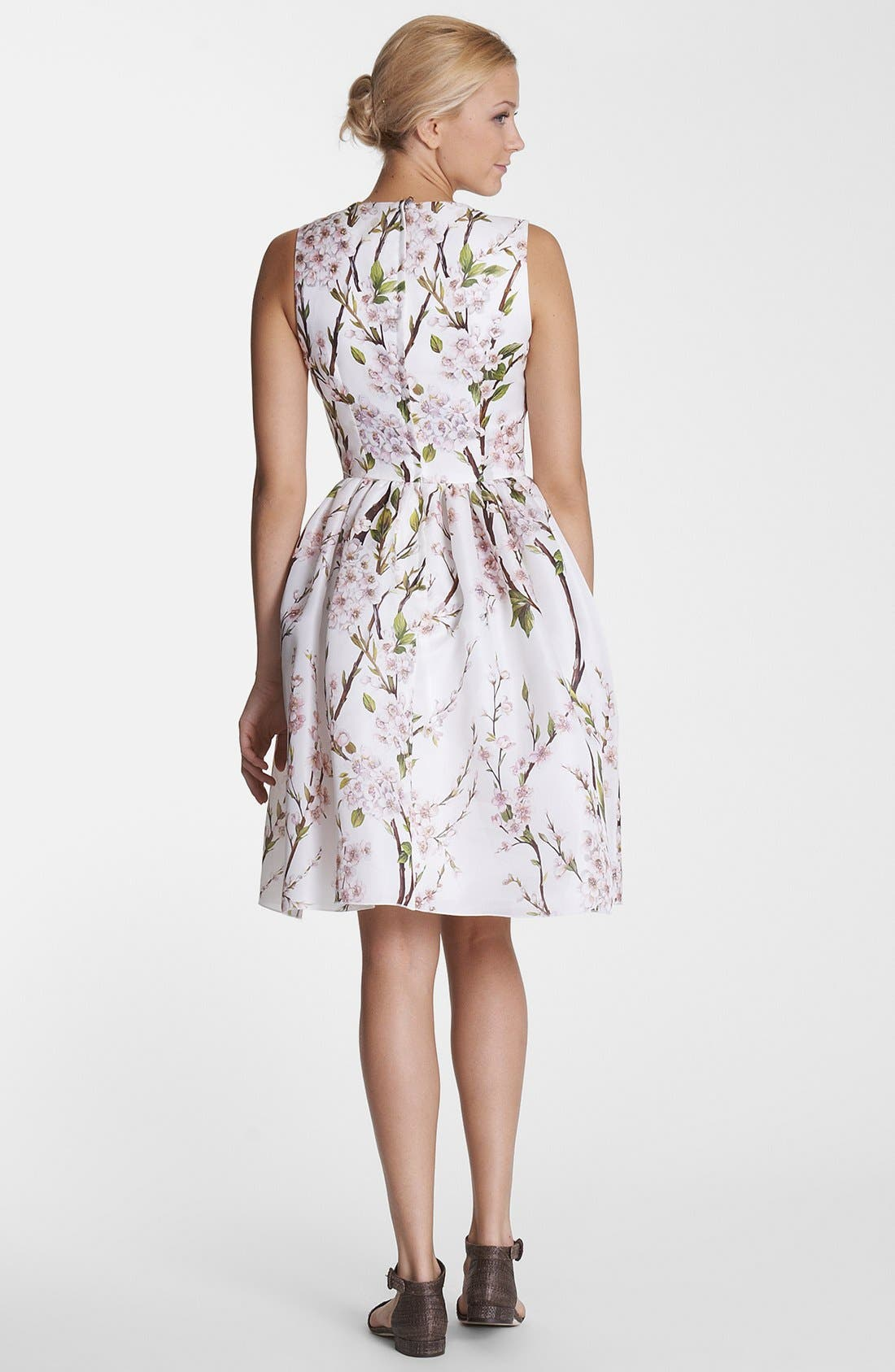Alternate Image 2  - Dolce&Gabbana Print Silk Organza Fit & Flare Dress