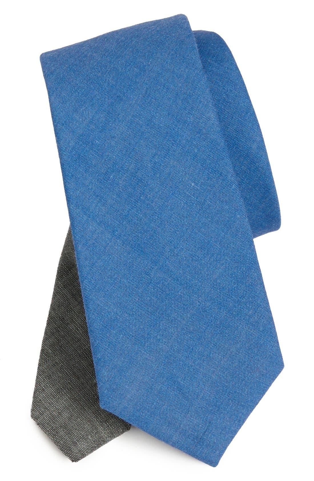 Main Image - EDIT by The Tie Bar Solid Linen Tie (Nordstrom Exclusive)