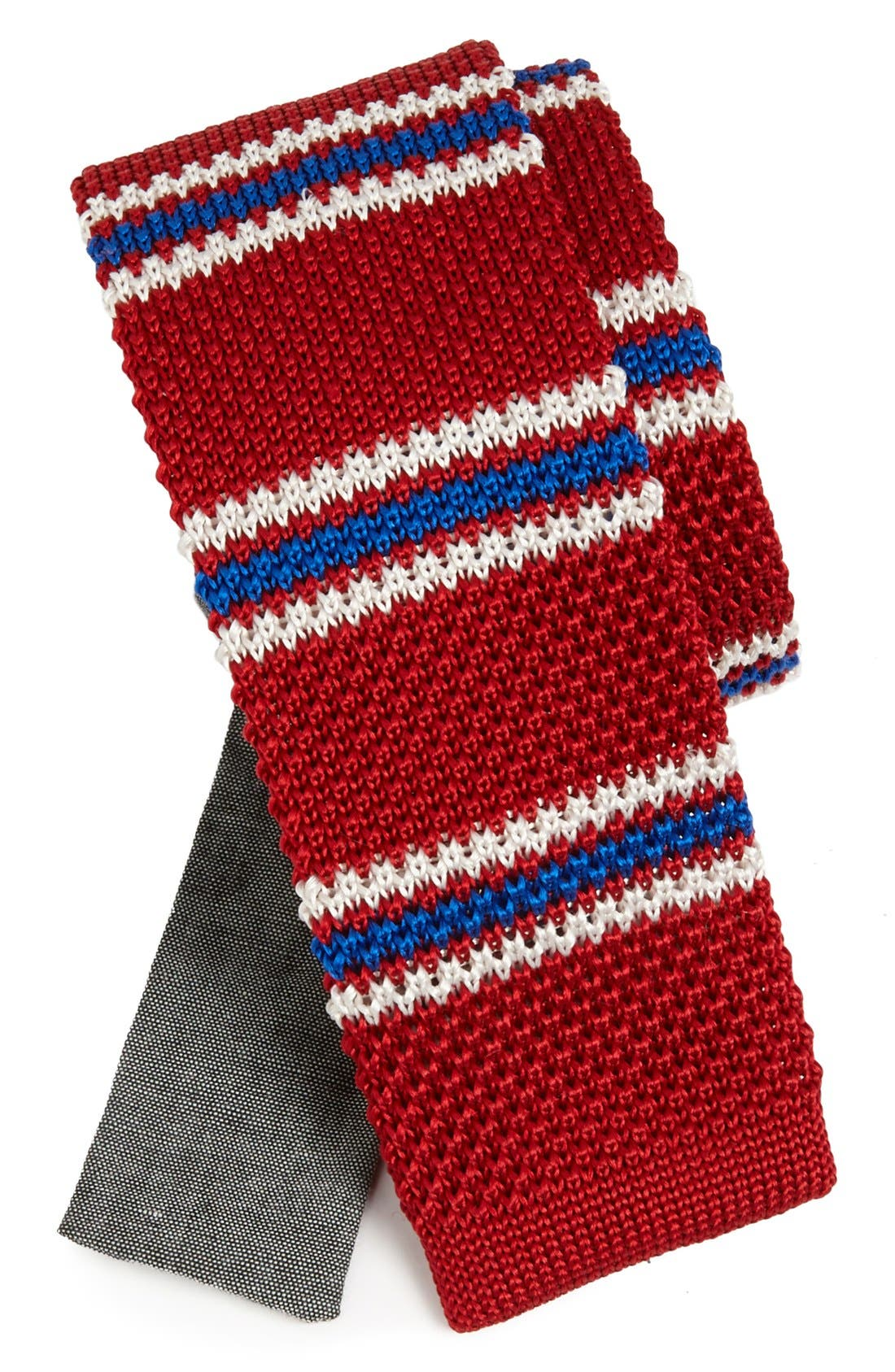 Main Image - EDIT by The Tie Bar Stripe Knit Silk Tie (Nordstrom Exclusive)