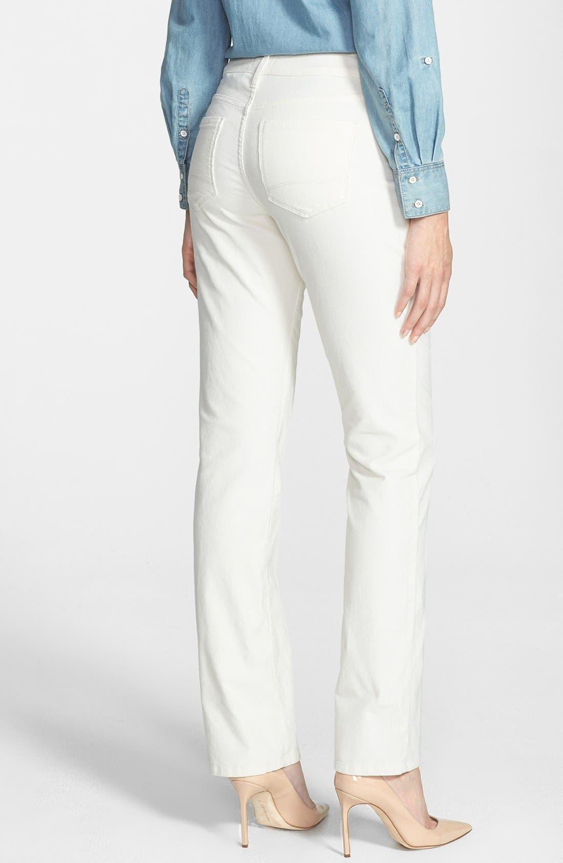 Alternate Image 2  - NYDJ 'Marilyn' Colored Stretch Corduroy Straight Leg Pants (Petite)