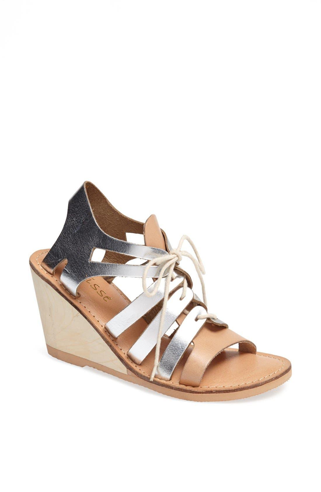 Main Image - Matisse 'Begin' Metallic Leather Wedge Sandal