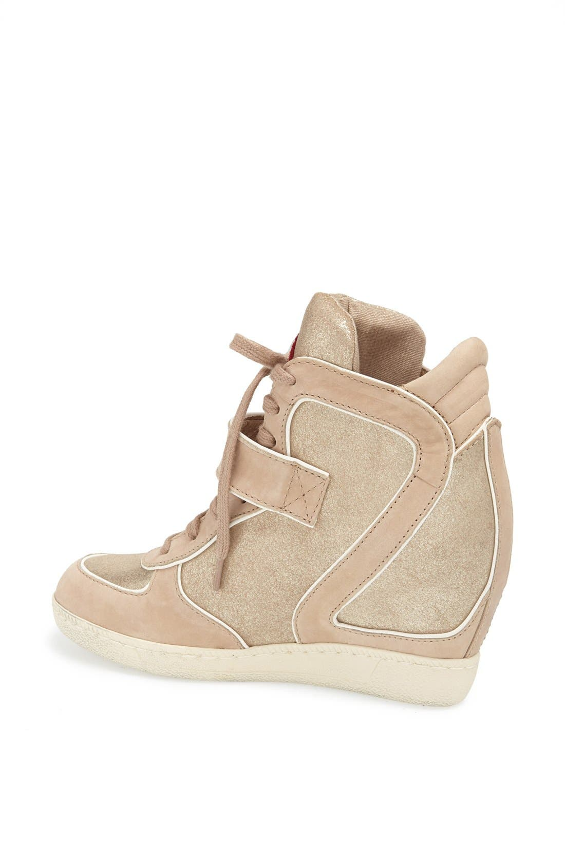 Alternate Image 2  - Ash 'Brendy' Hidden Wedge Suede & Metallic Leather Sneaker