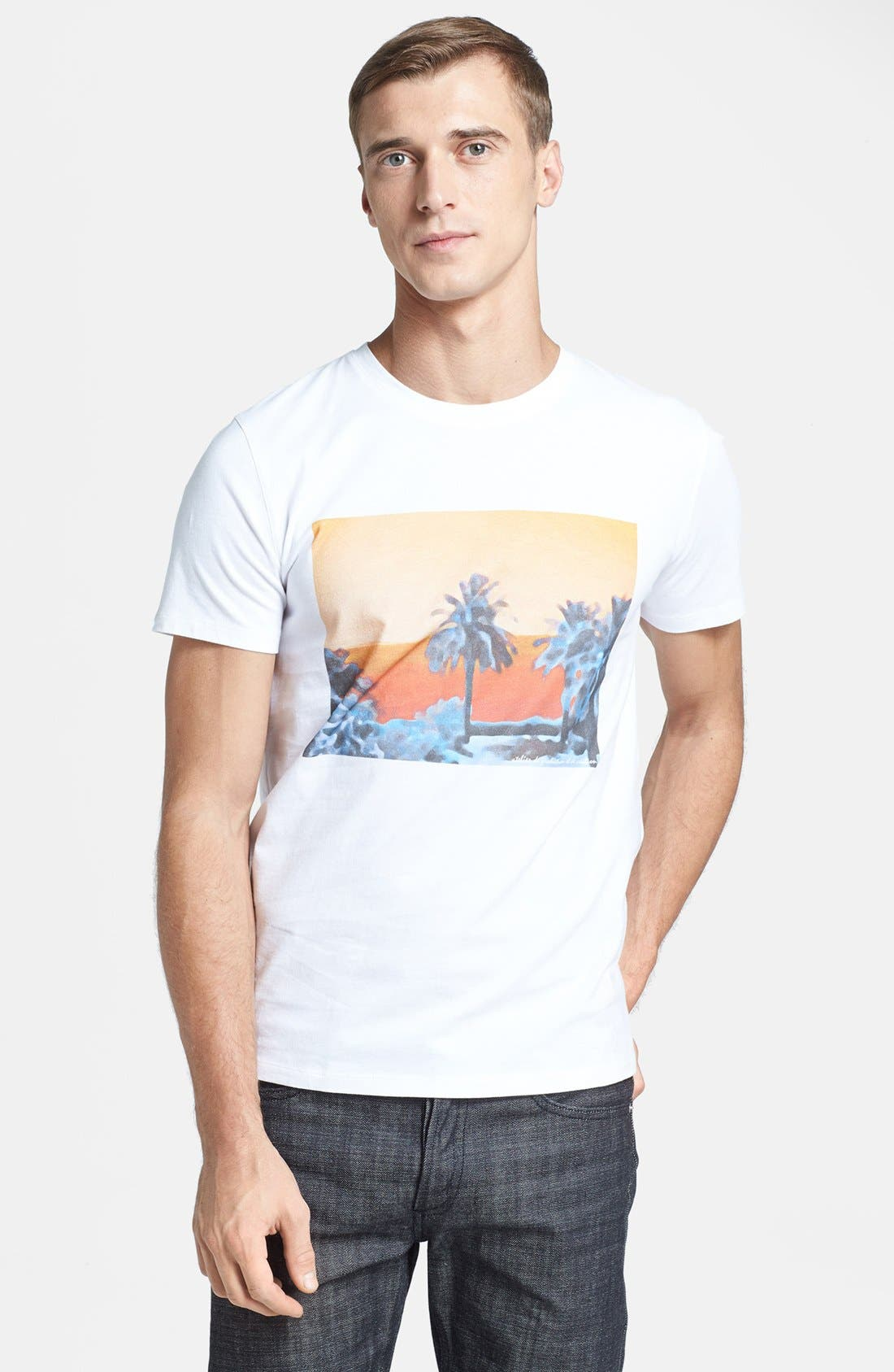 Alternate Image 1 Selected - A.P.C. 'Palm Tree' Graphic T-Shirt