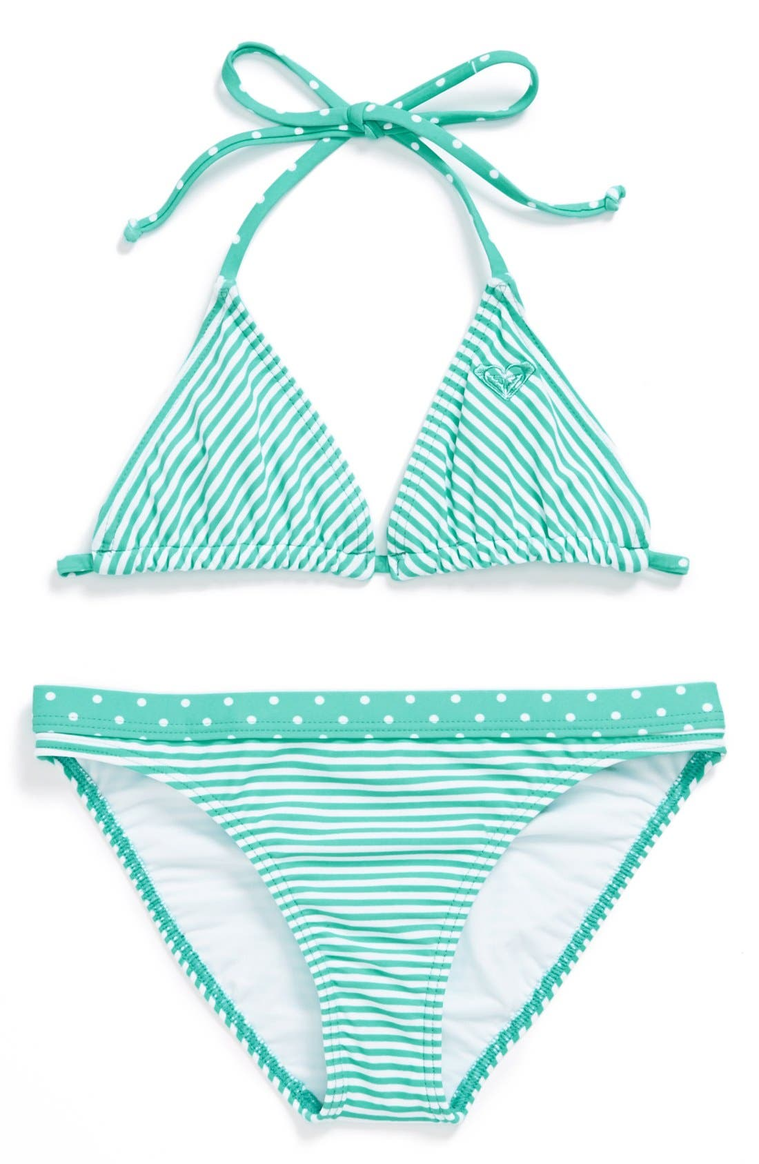 Alternate Image 1 Selected - Roxy Two Piece Swimsuit (Big Girls)