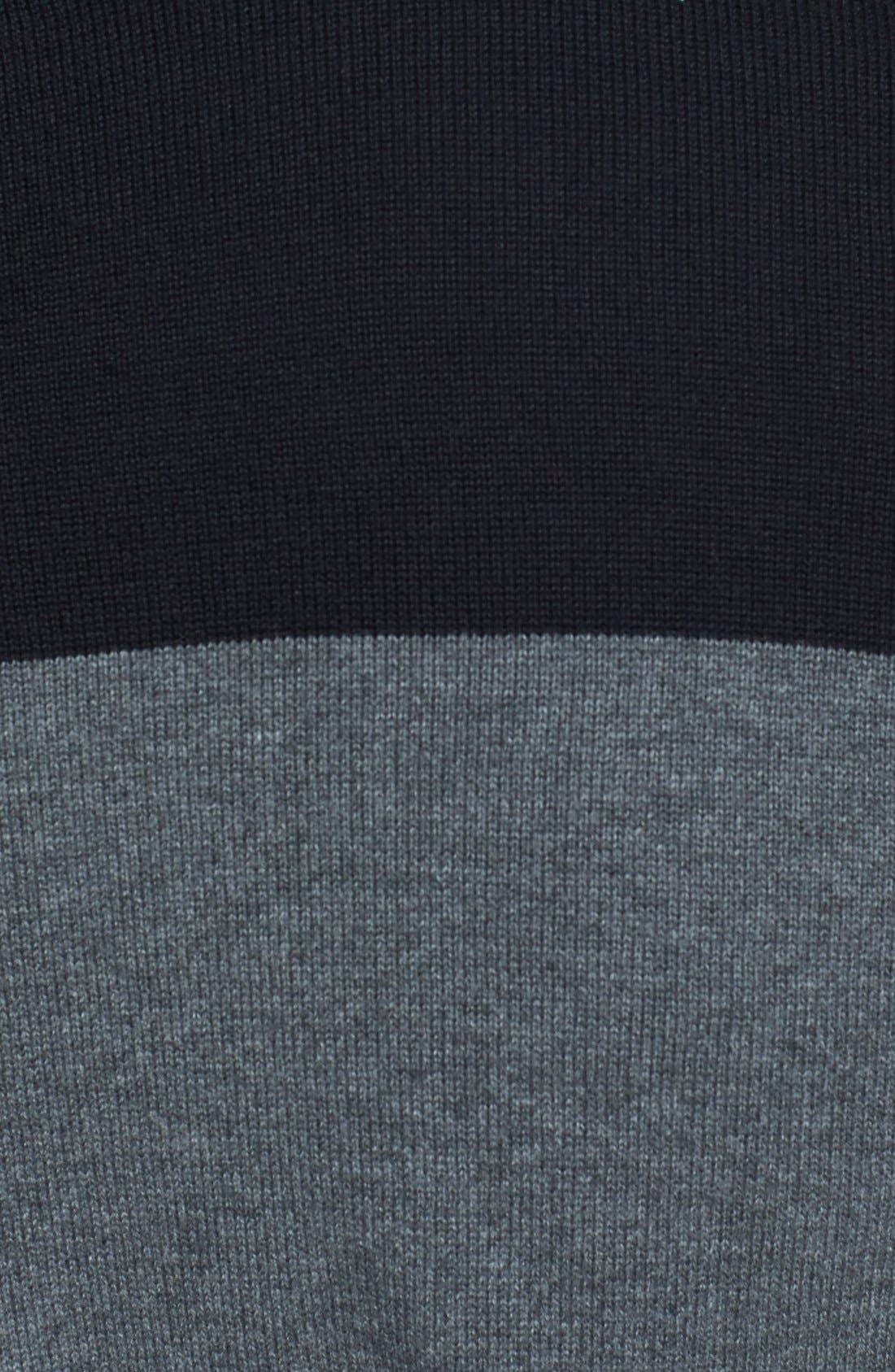 Alternate Image 3  - Topman Two-Tone Panel Crewneck Sweater