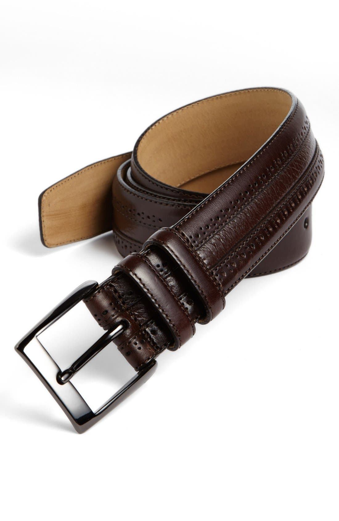 Main Image - Mezlan 'Vaqueta' Leather Belt