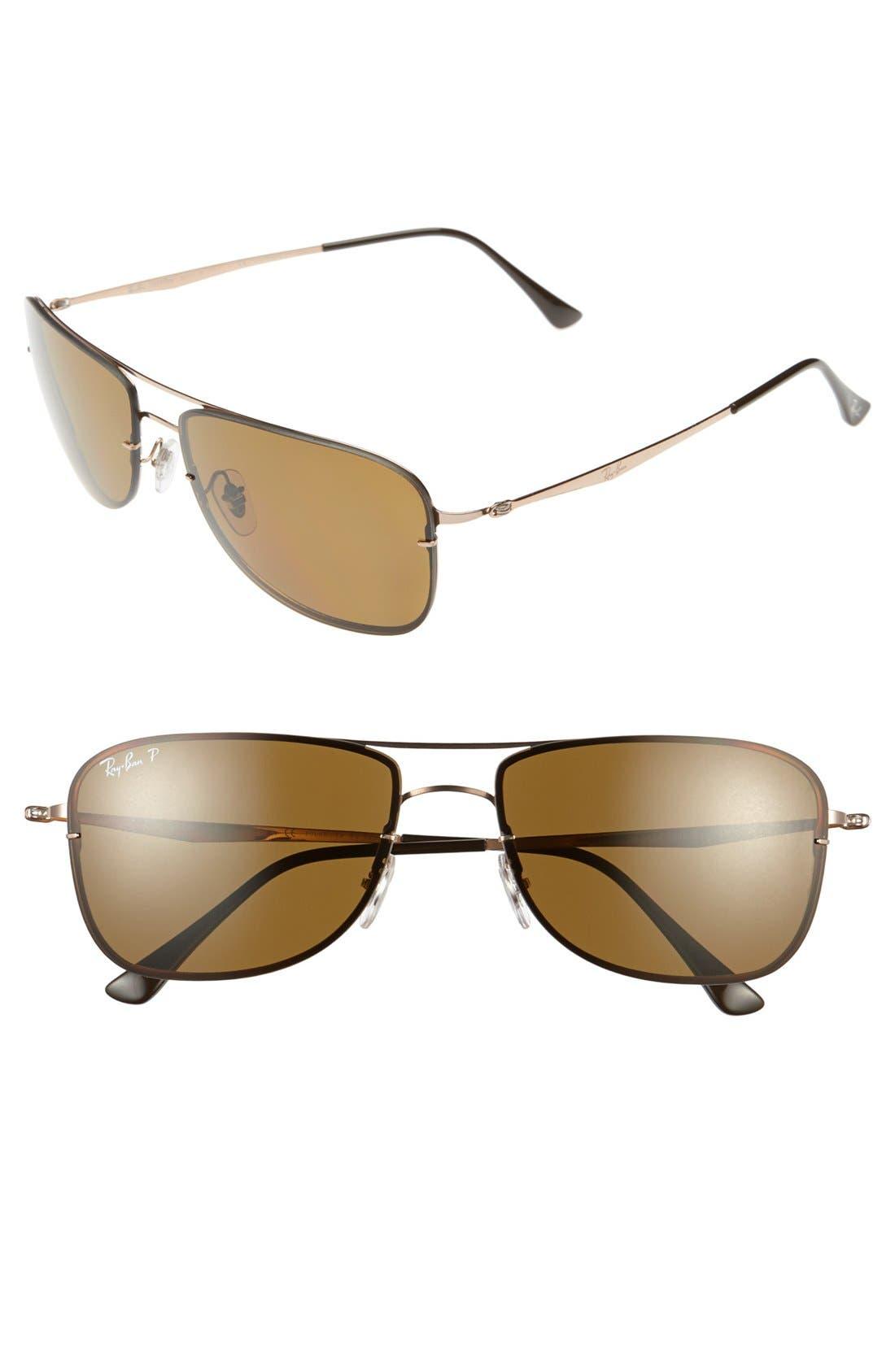 Alternate Image 1 Selected - Ray-Ban 'Pilot Aviator' Polarized Sunglasses