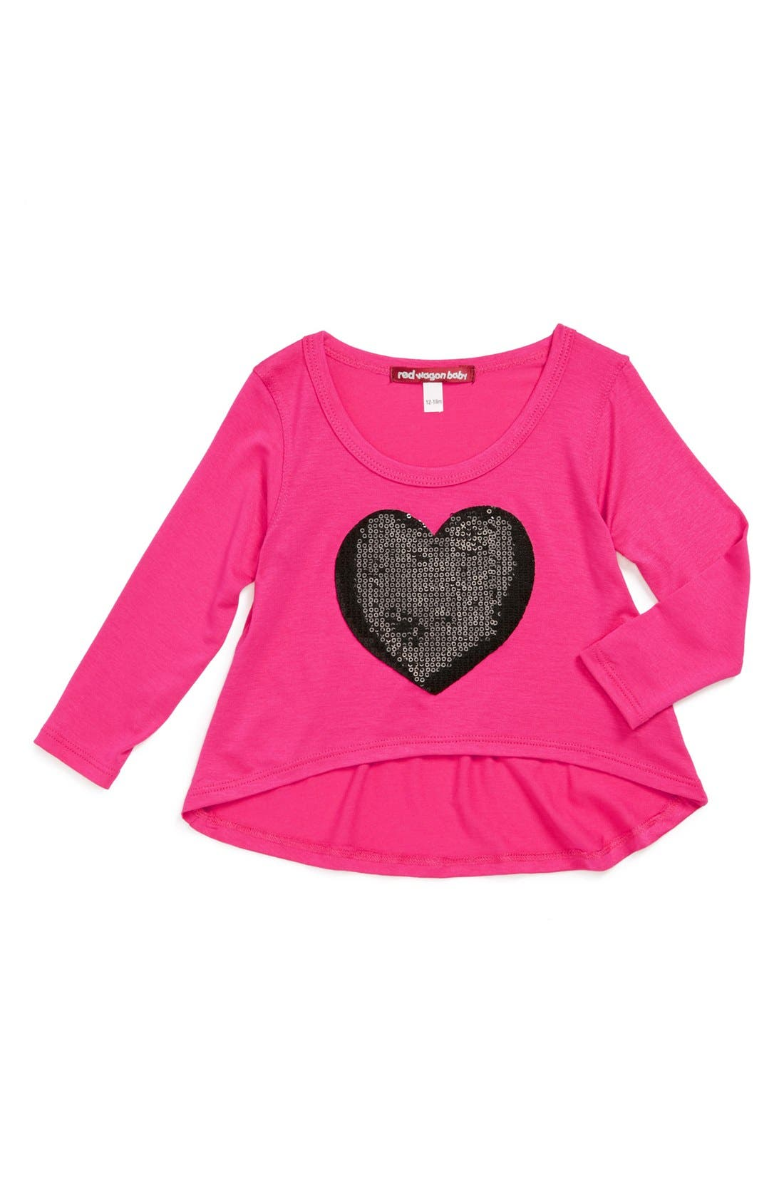 Alternate Image 1 Selected - Red Wagon Baby Sequin Heart Tunic (Baby Girls)