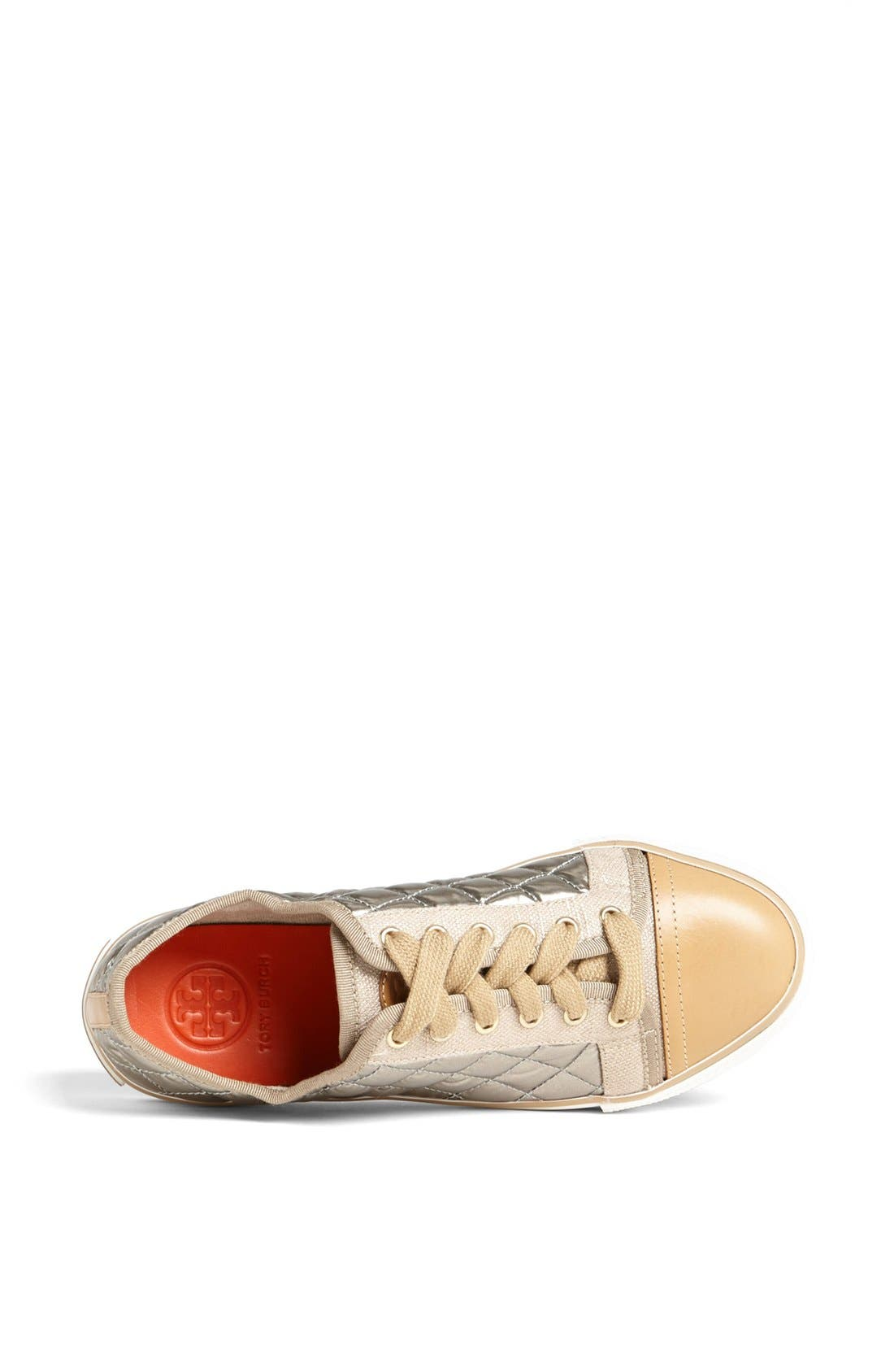 Alternate Image 3  - Tory Burch 'Caspe' Quilted Metallic Leather Sneaker