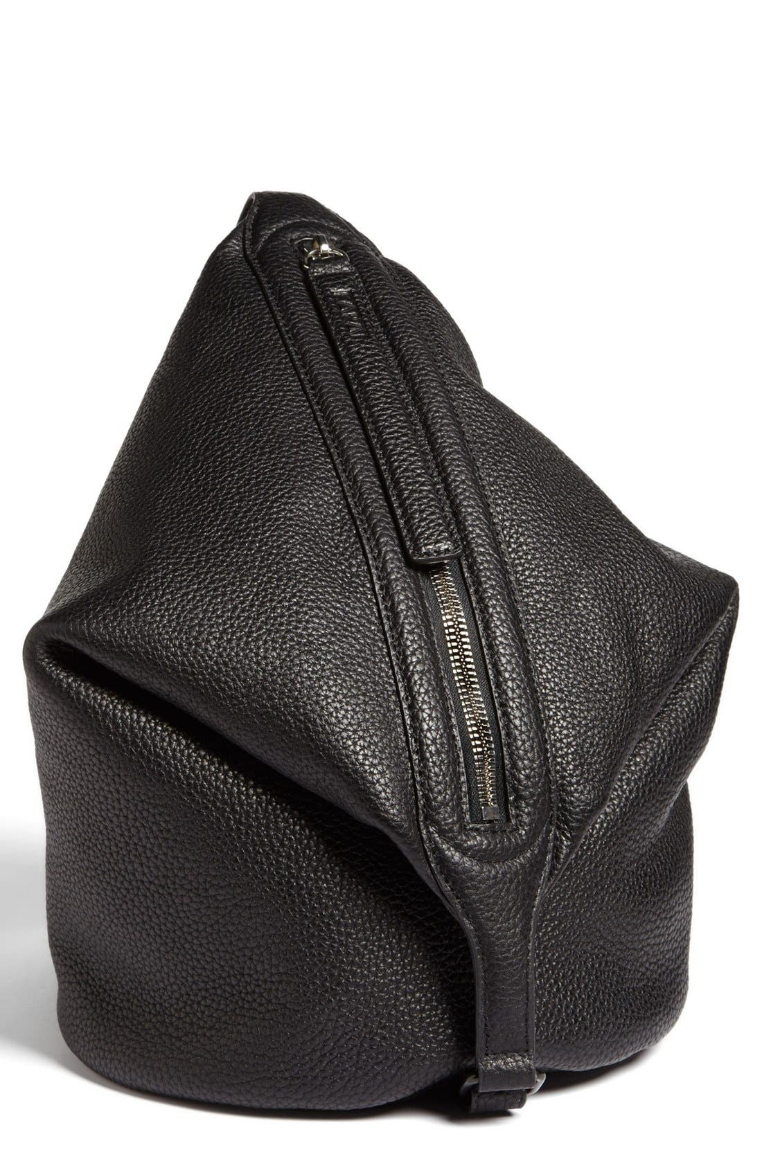 Alternate Image 2  - Kara 'Dry - Small' Convertible Pebbled Leather Bucket Bag, Small