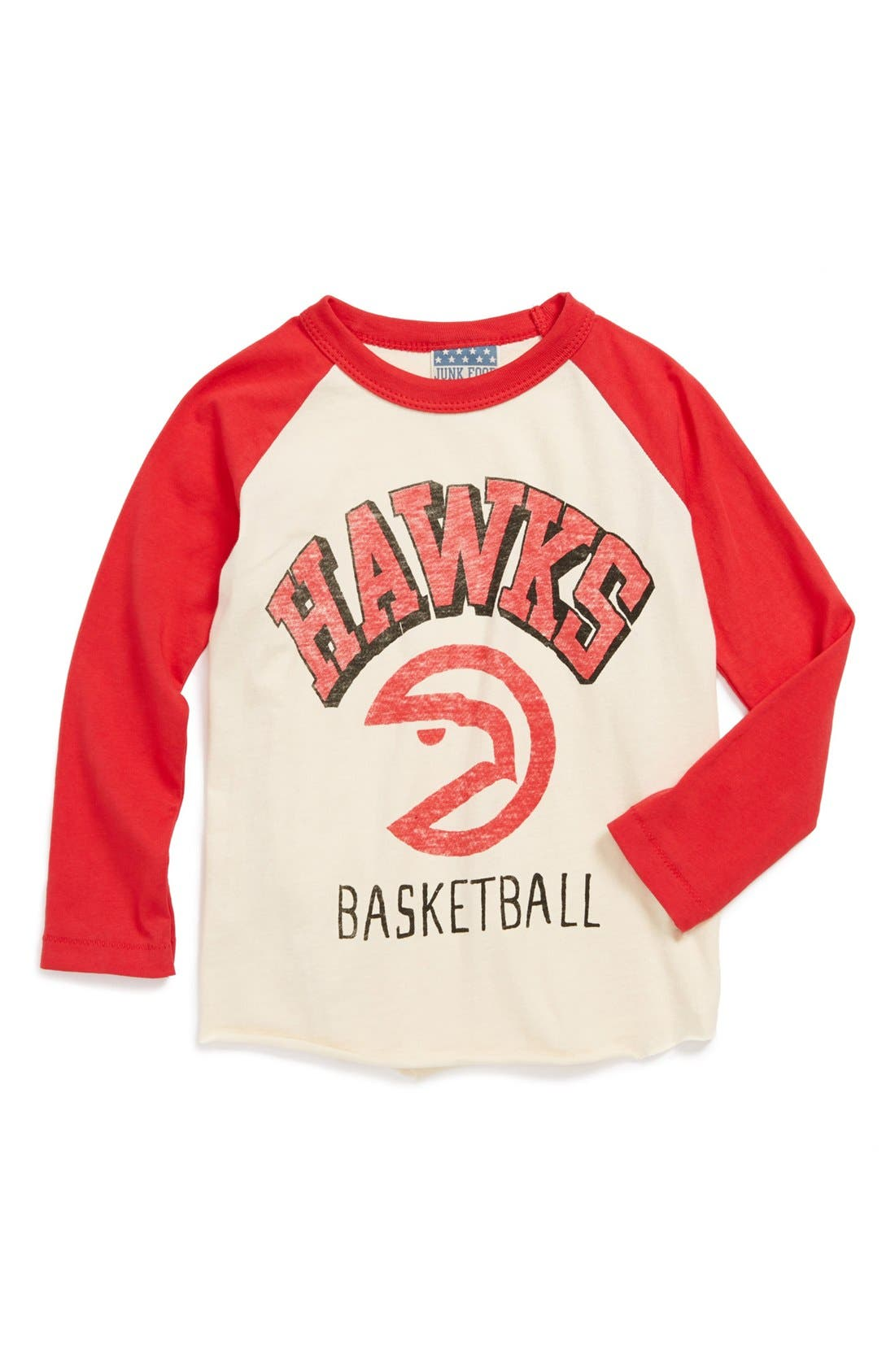 Alternate Image 1 Selected - Junk Food 'Atlanta Hawks' Long Sleeve T-Shirt (Little Boys & Big Boys)