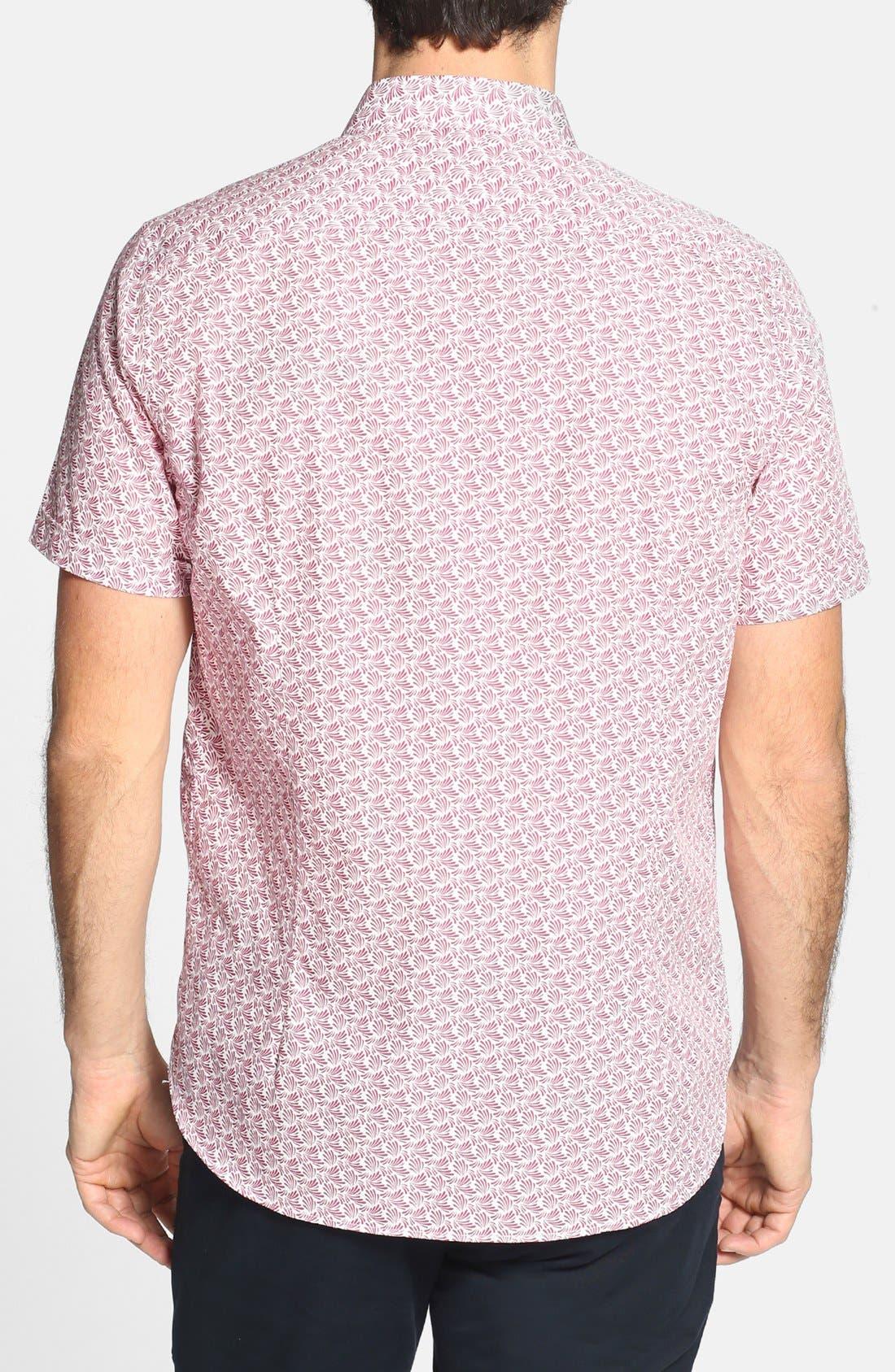 Alternate Image 2  - Ted Baker London 'Yurtamp' Short Sleeve Print Sport Shirt