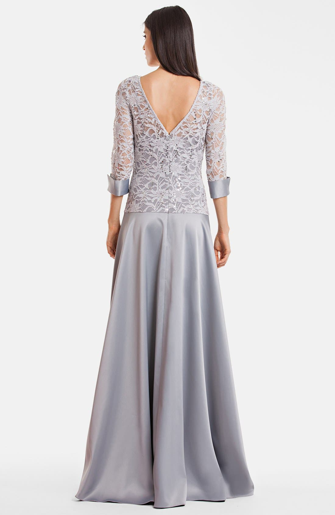 Alternate Image 2  - JS Collections Embellished A-Line Gown