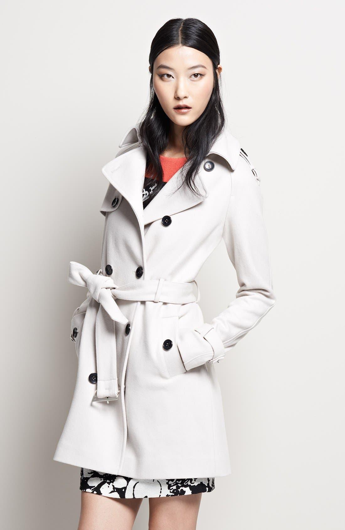 Alternate Image 4  - Calvin Klein Wool Blend Trench Coat