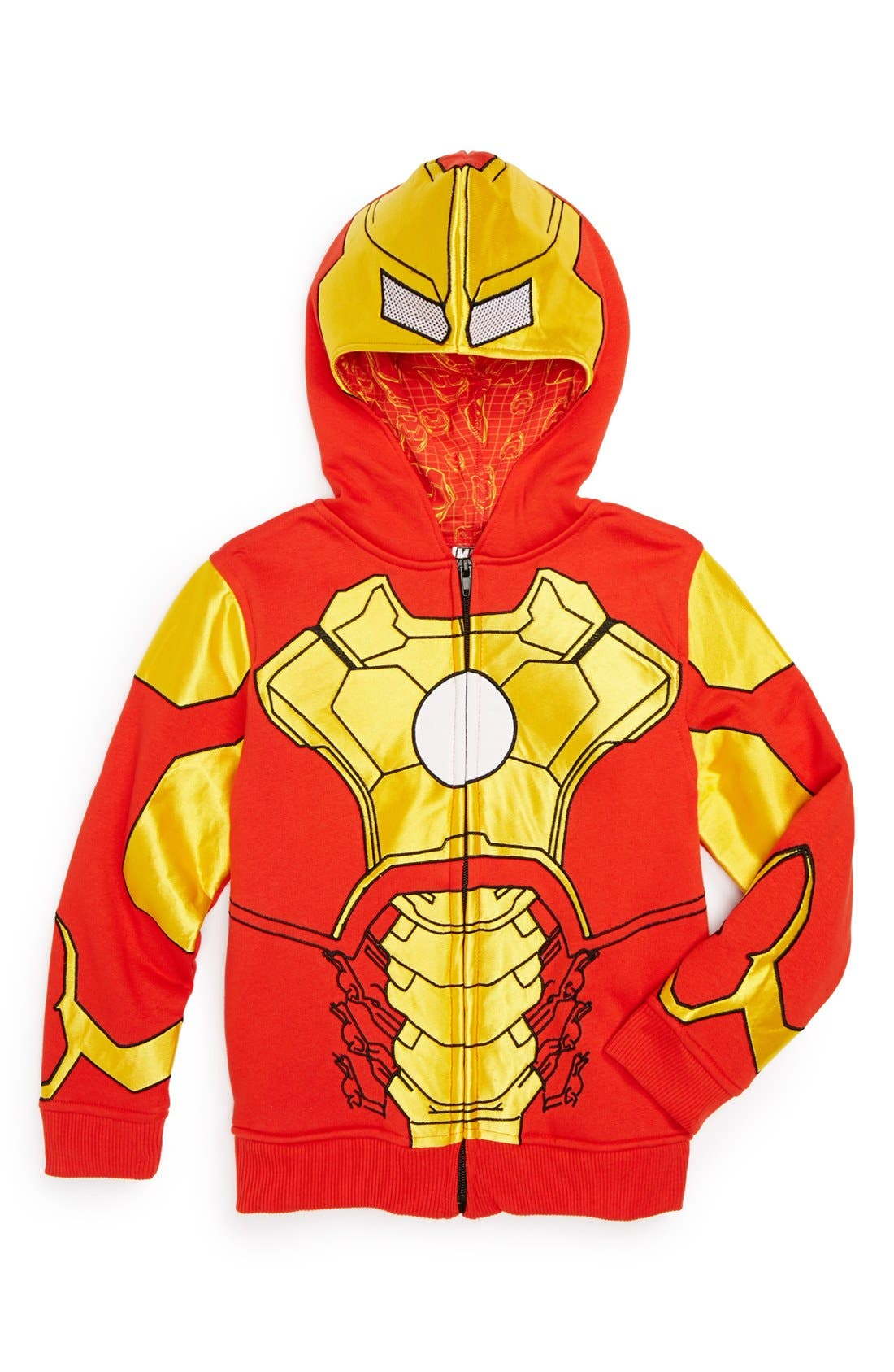 Alternate Image 1 Selected - Jem 'Iron Man' Hoodie (Little Boys)