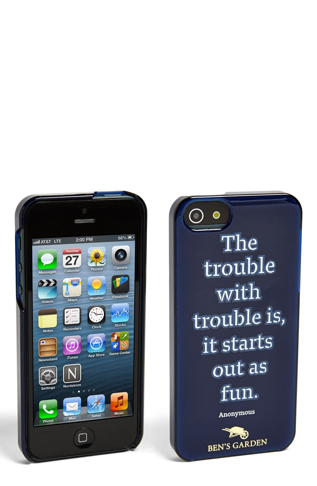 Alternate Image 1 Selected - Ben's Garden 'The Trouble with Trouble Is, It Starts Out as Fun' iPhone 5 & 5s Case