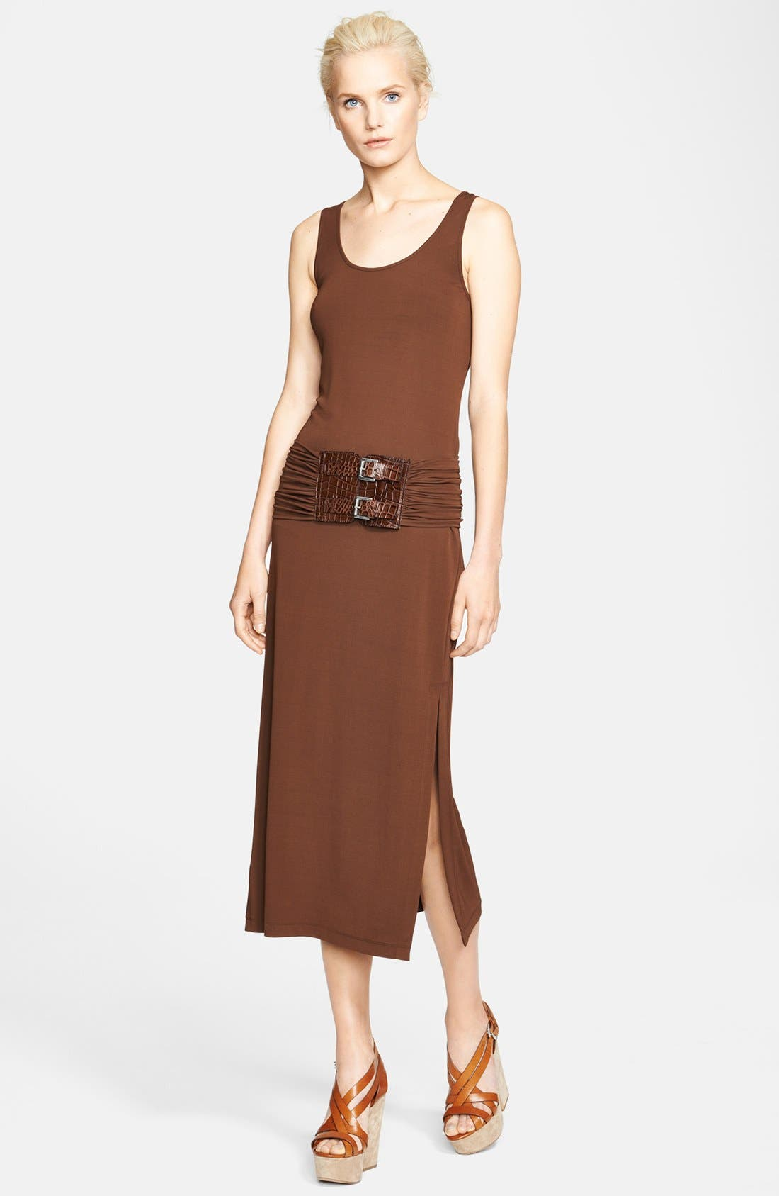 Alternate Image 1 Selected - Michael Kors Buckled Jersey Tank Dress
