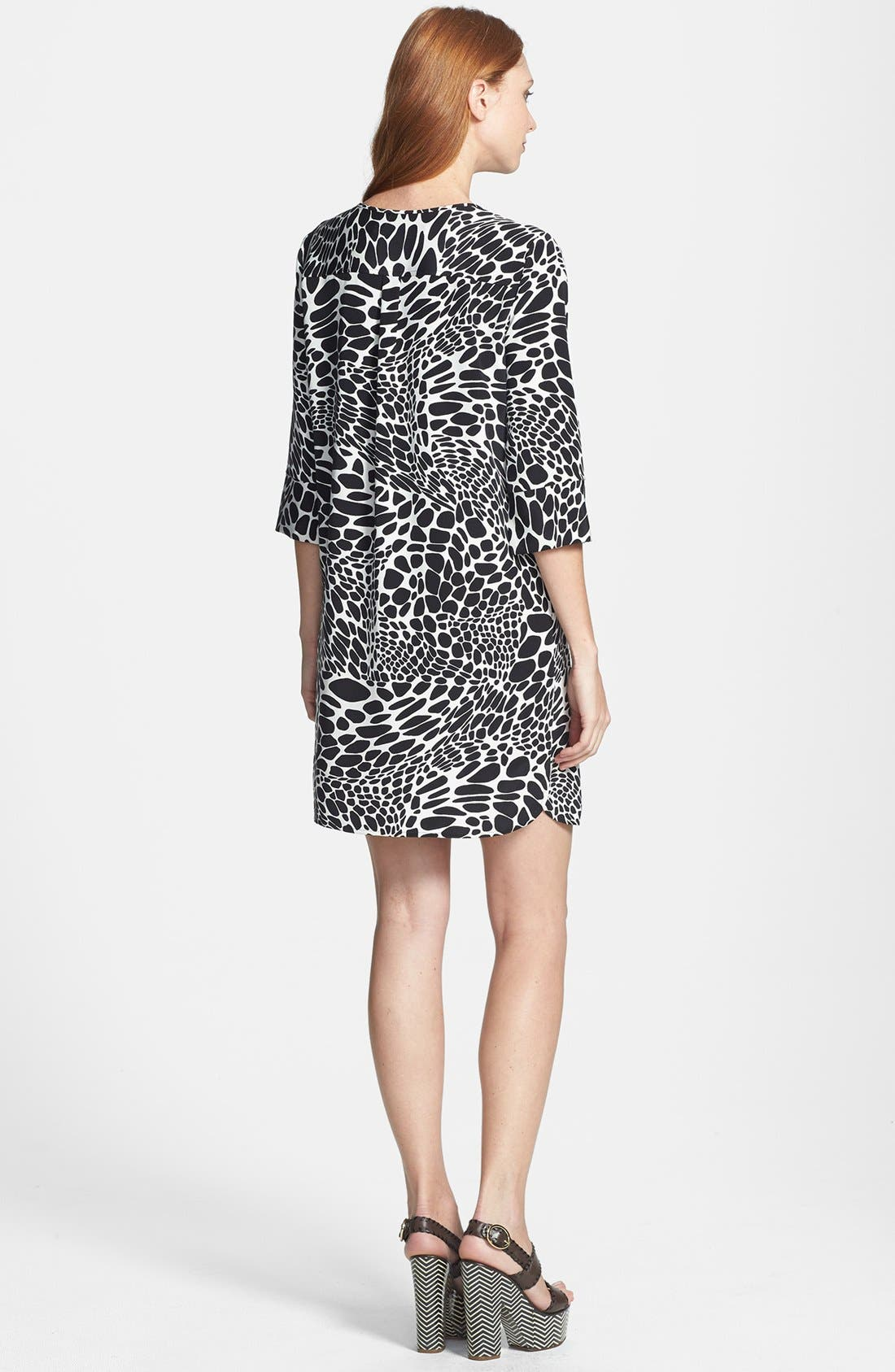 Alternate Image 2  - Diane von Furstenberg 'Agness' Print Woven Shift Dress