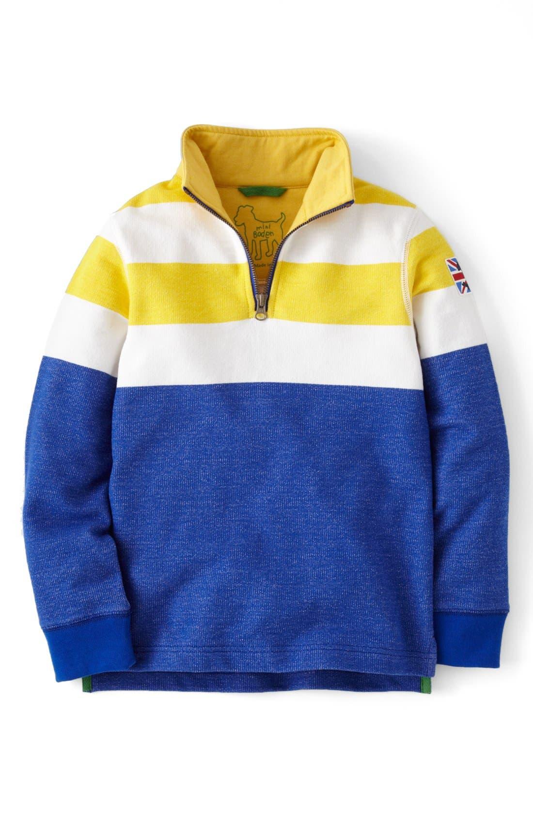 Alternate Image 1 Selected - Mini Boden Half Zip Sweater (Toddler Boys, Little Boys & Big Boys)