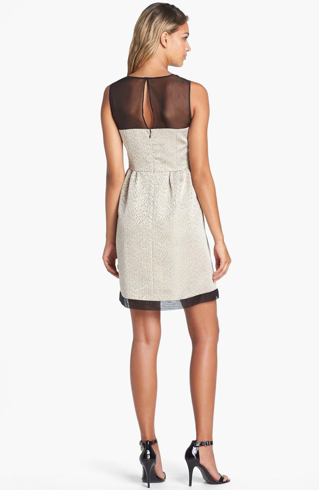 Alternate Image 2  - Ivy & Blu Jacquard Fit & Flare Dress (Petite)
