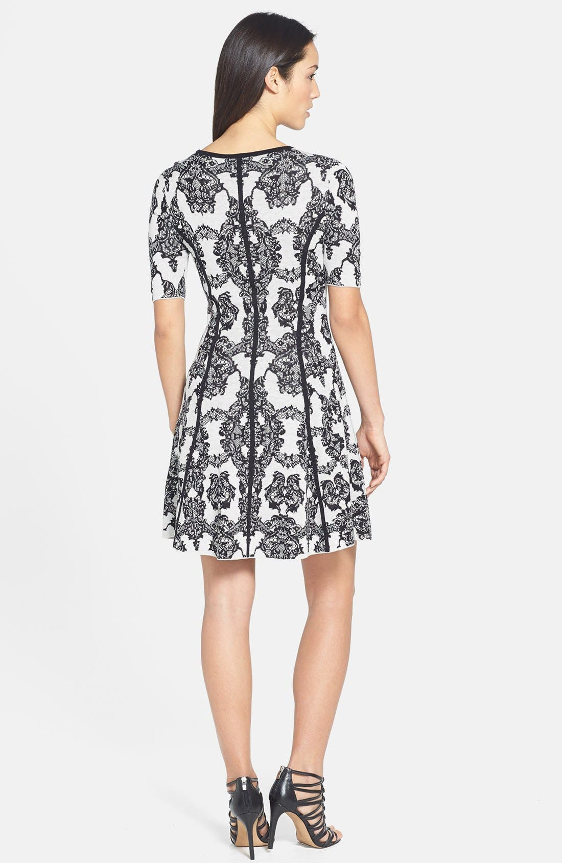 Alternate Image 3  - BCBGMAXAZRIA Floral Fit & Flare Dress