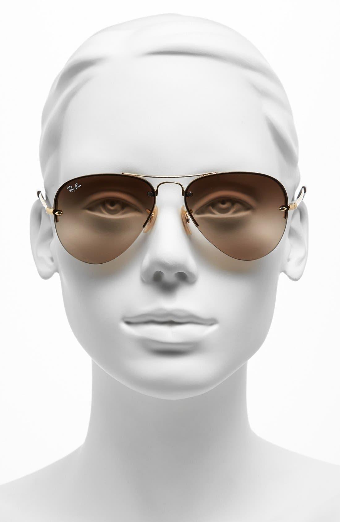 Alternate Image 2  - Ray-Ban 56mm Rimless Aviator Sunglasses