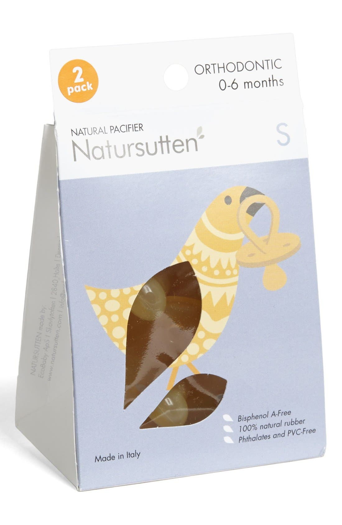 Alternate Image 4  - Natursutten 'Small' Natural Rubber Orthodontic Pacifier (2-Pack)