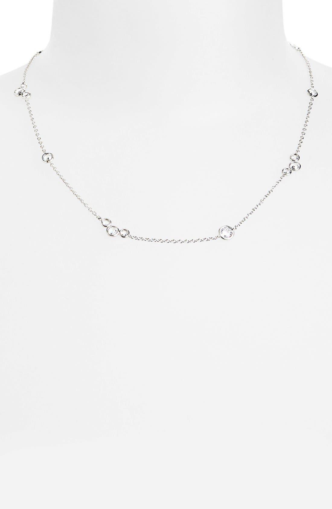 Main Image - Nadri 'Dewdrop' Station Collar Necklace