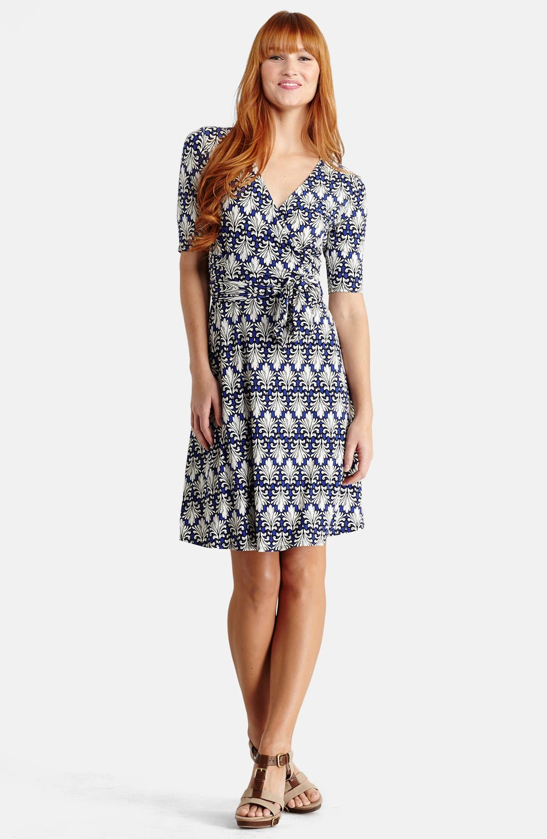 Alternate Image 1 Selected - Donna Morgan Jersey Wrap Fit & Flare Dress