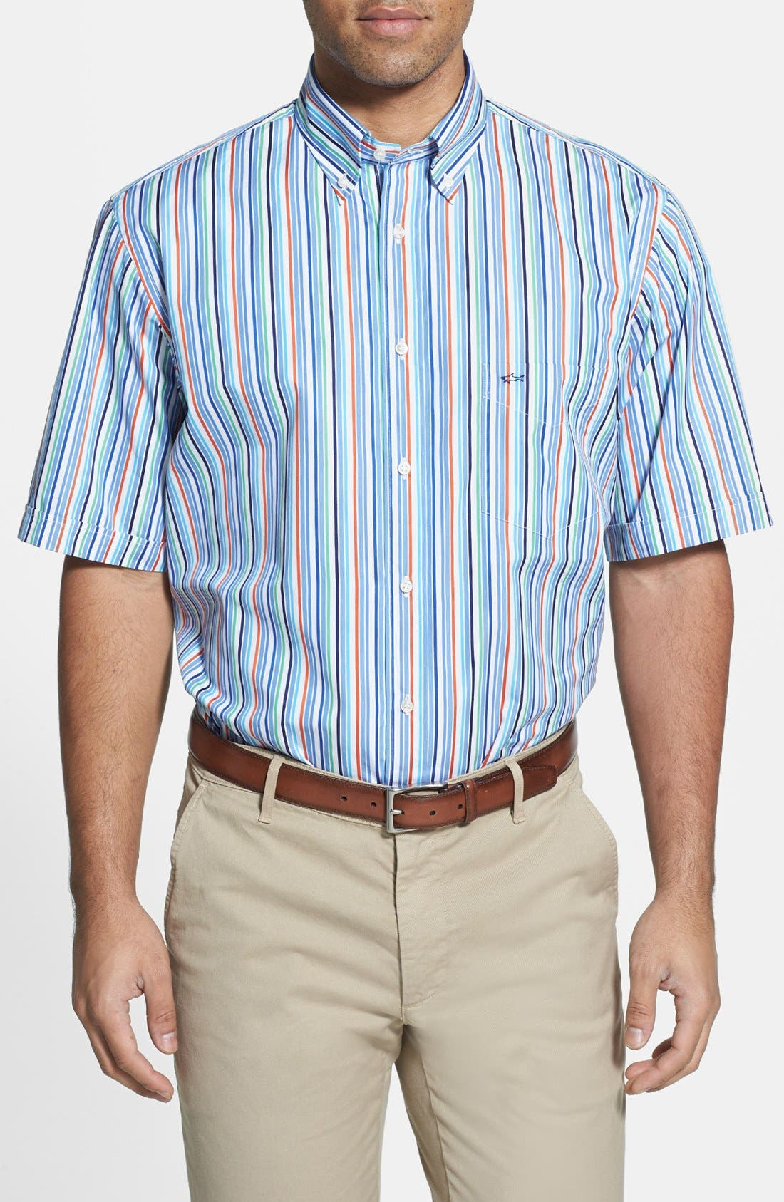 Alternate Image 1 Selected - Paul & Shark Classic Fit Short Sleeve Sport Shirt