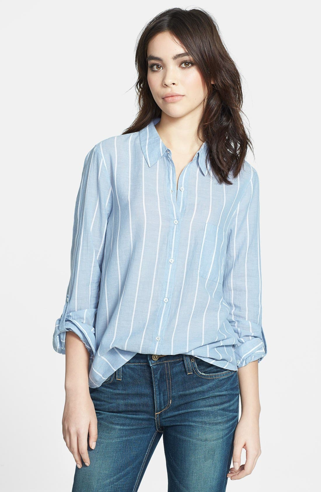 Alternate Image 1 Selected - Soft Joie 'Annabella' Stripe Cotton Shirt