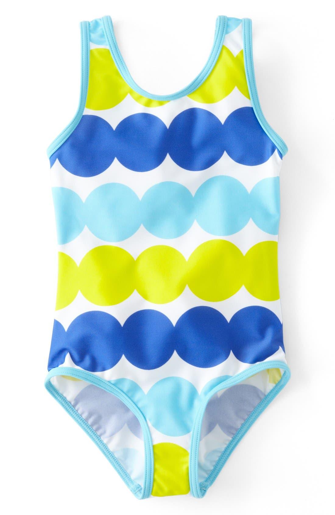 Alternate Image 1 Selected - Mini Boden Print Swimsuit (Toddler Girls)