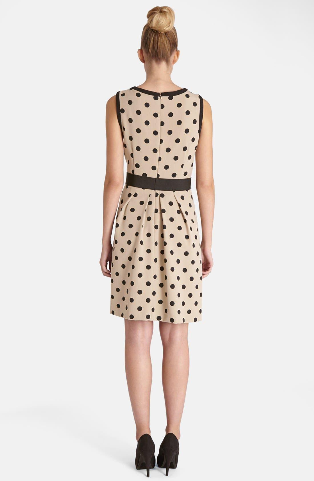 Alternate Image 3  - Tahari Polka Dot Crepe Fit & Flare Dress (Regular & Petite)