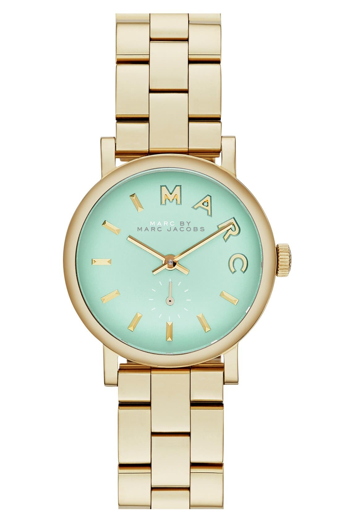Alternate Image 1 Selected - MARC JACOBS 'Small Baker' Bracelet Watch, 28mm
