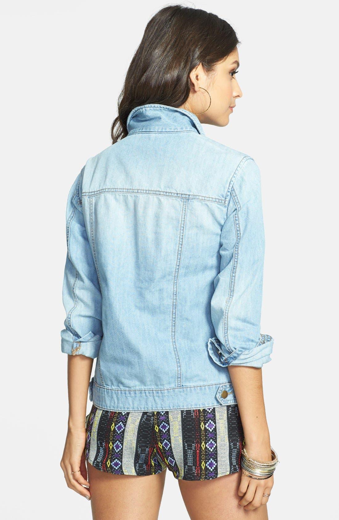 Alternate Image 2  - BP. Oversized Denim Jacket (Juniors)