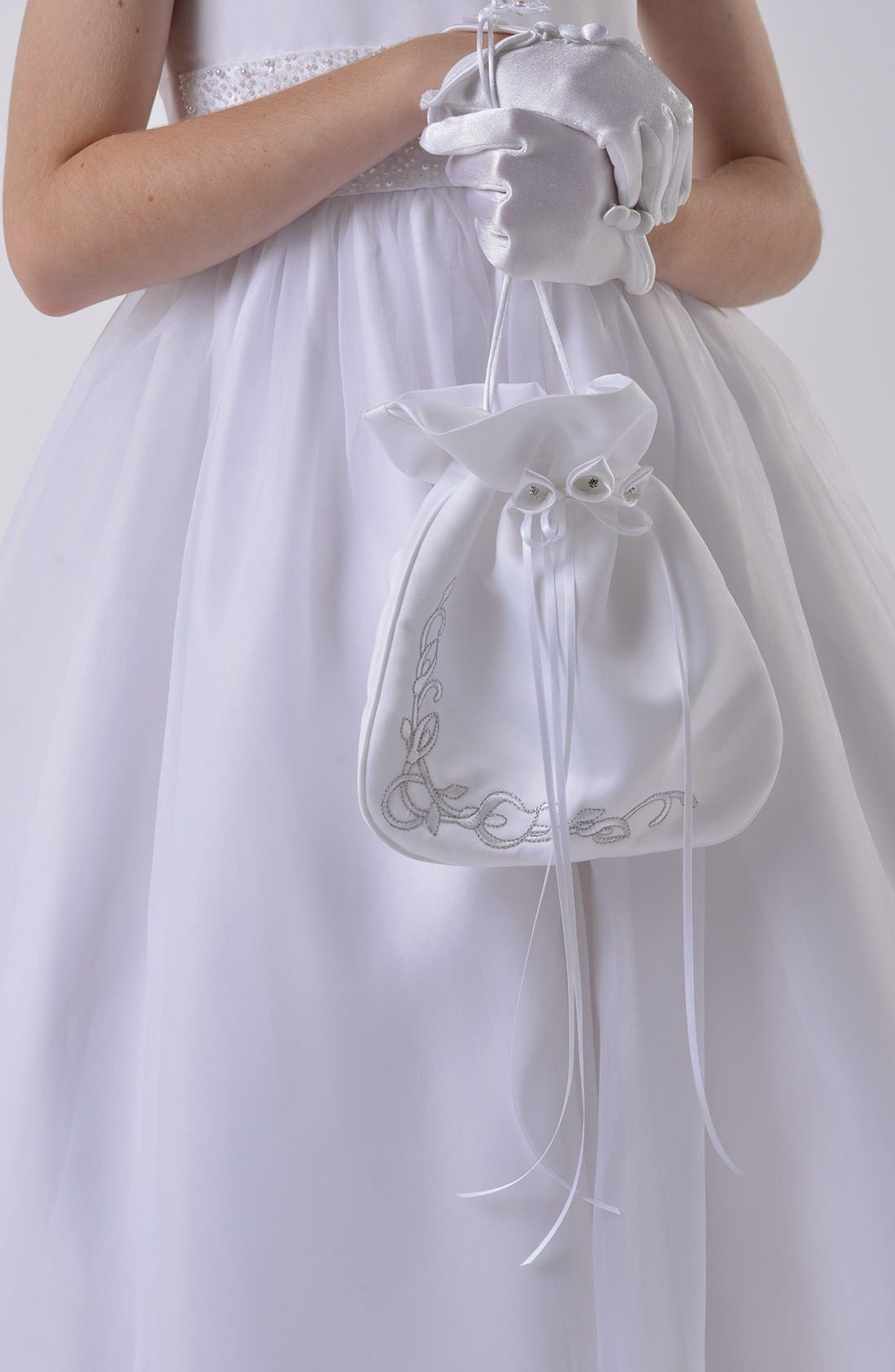 Main Image - Us Angels Communion Satin Drawstring Bag